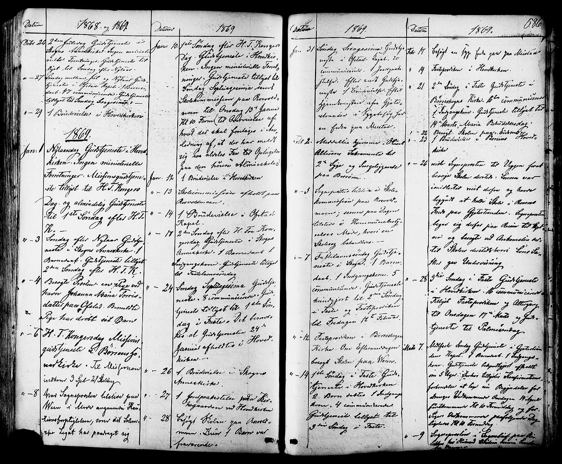 SAT, Ministerialprotokoller, klokkerbøker og fødselsregistre - Sør-Trøndelag, 665/L0772: Ministerialbok nr. 665A07, 1856-1878, s. 586