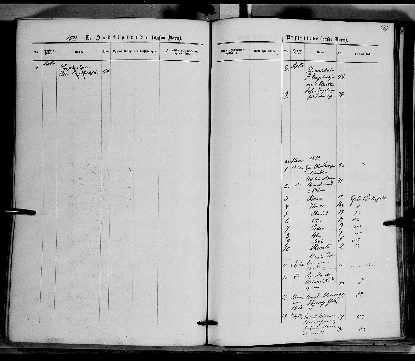SAH, Nord-Aurdal prestekontor, Ministerialbok nr. 8, 1863-1875, s. 467