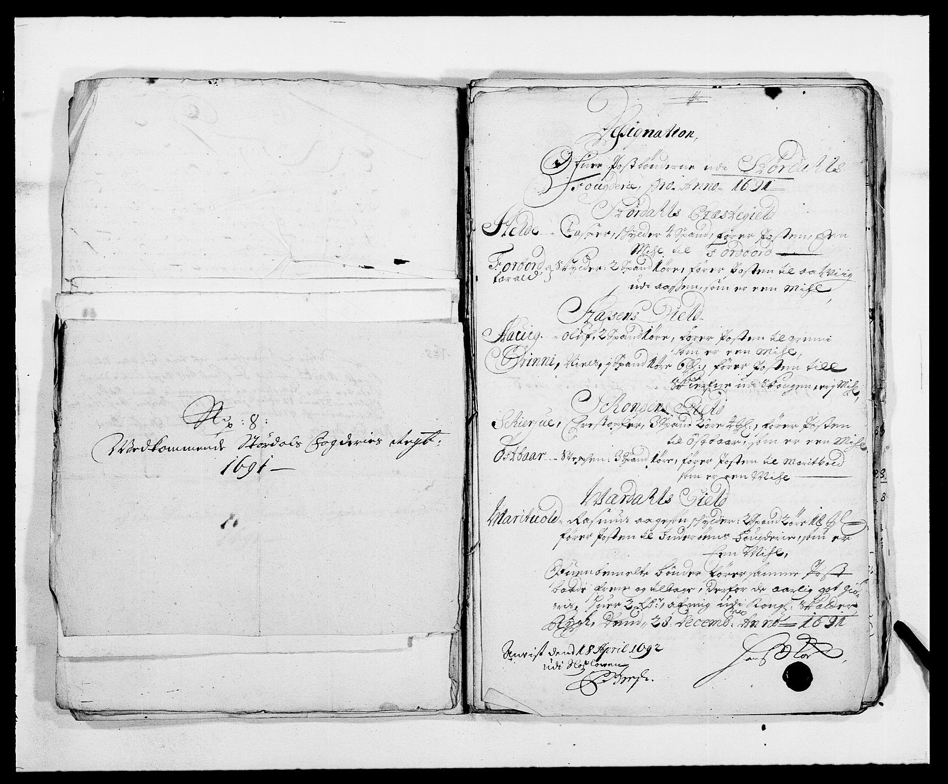 RA, Rentekammeret inntil 1814, Reviderte regnskaper, Fogderegnskap, R62/L4184: Fogderegnskap Stjørdal og Verdal, 1690-1691, s. 434