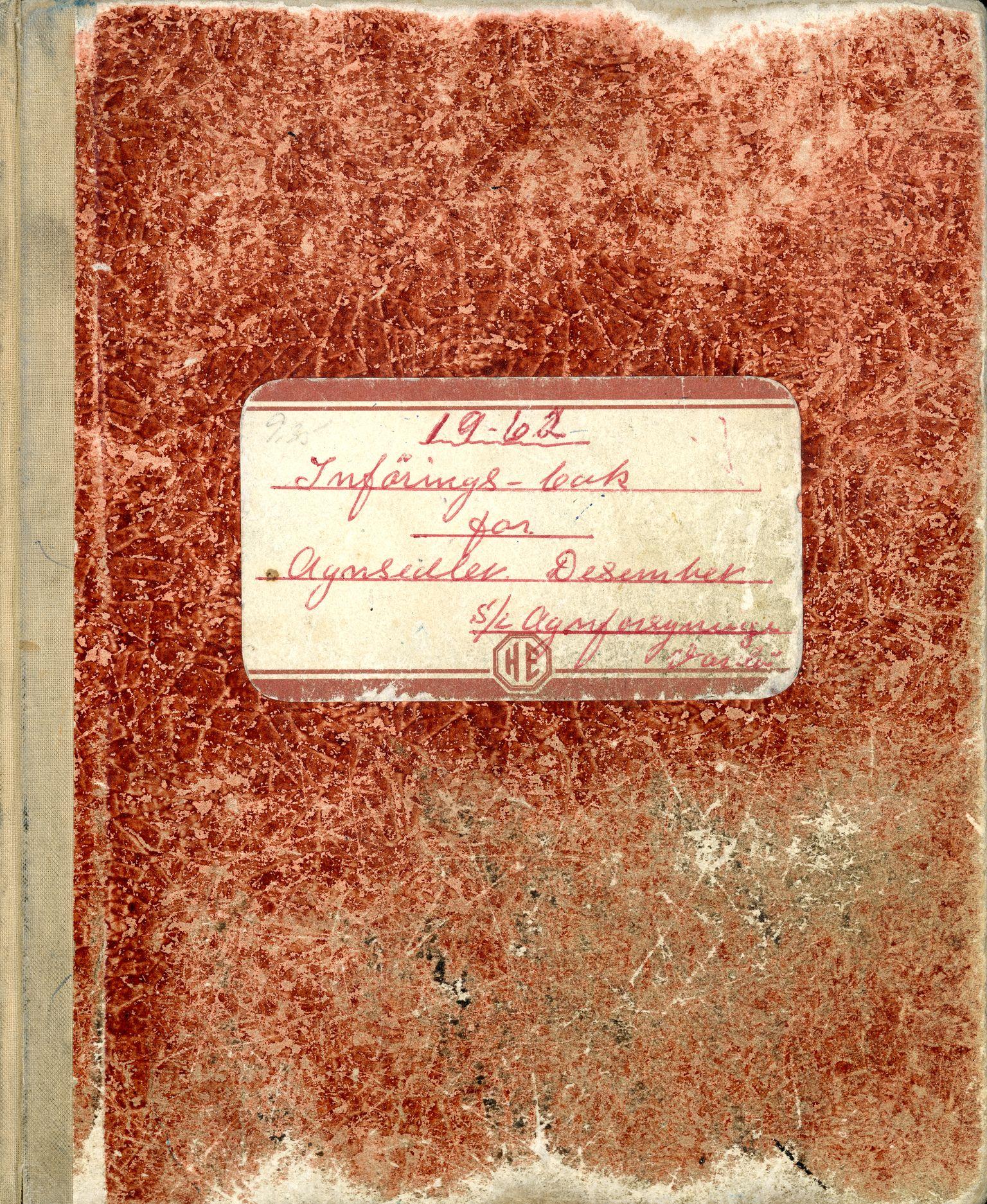 VAMU, Fiskernes agnforsyning, avdeling Vardø, R/L0002: Innføringsbok for agnsedler, 1962-1963