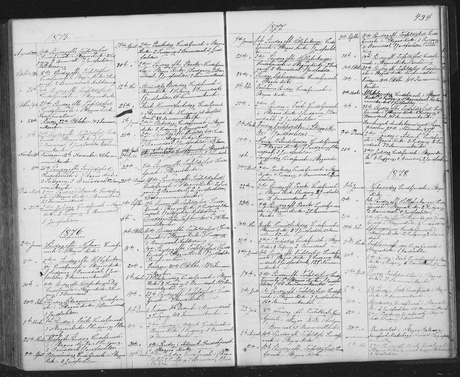 SAT, Ministerialprotokoller, klokkerbøker og fødselsregistre - Sør-Trøndelag, 667/L0798: Klokkerbok nr. 667C03, 1867-1929, s. 434