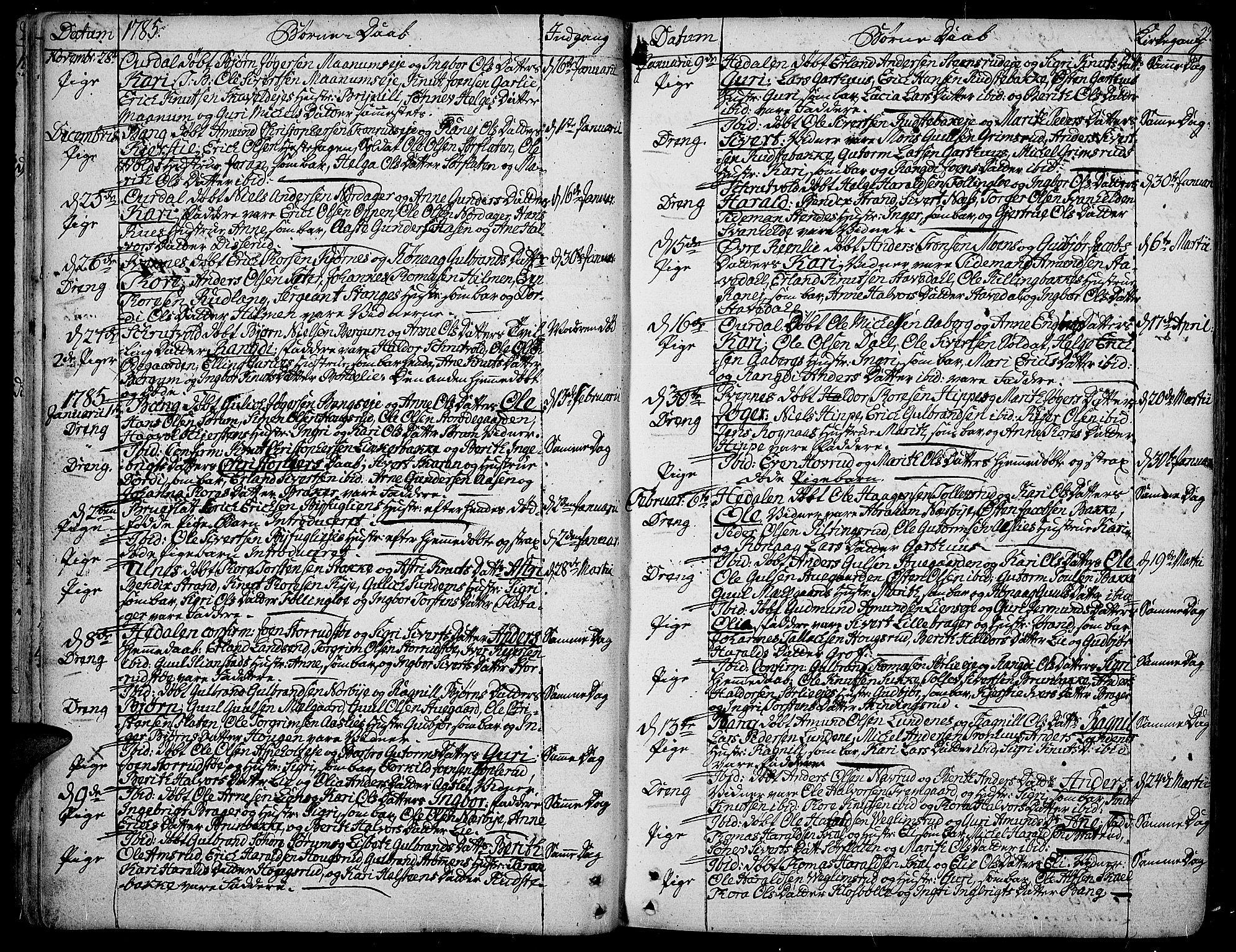 SAH, Aurdal prestekontor, Ministerialbok nr. 6, 1781-1804, s. 22