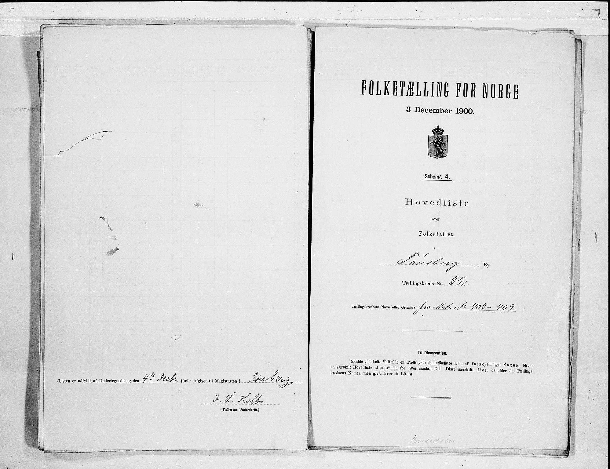 RA, Folketelling 1900 for 0705 Tønsberg kjøpstad, 1900, s. 66
