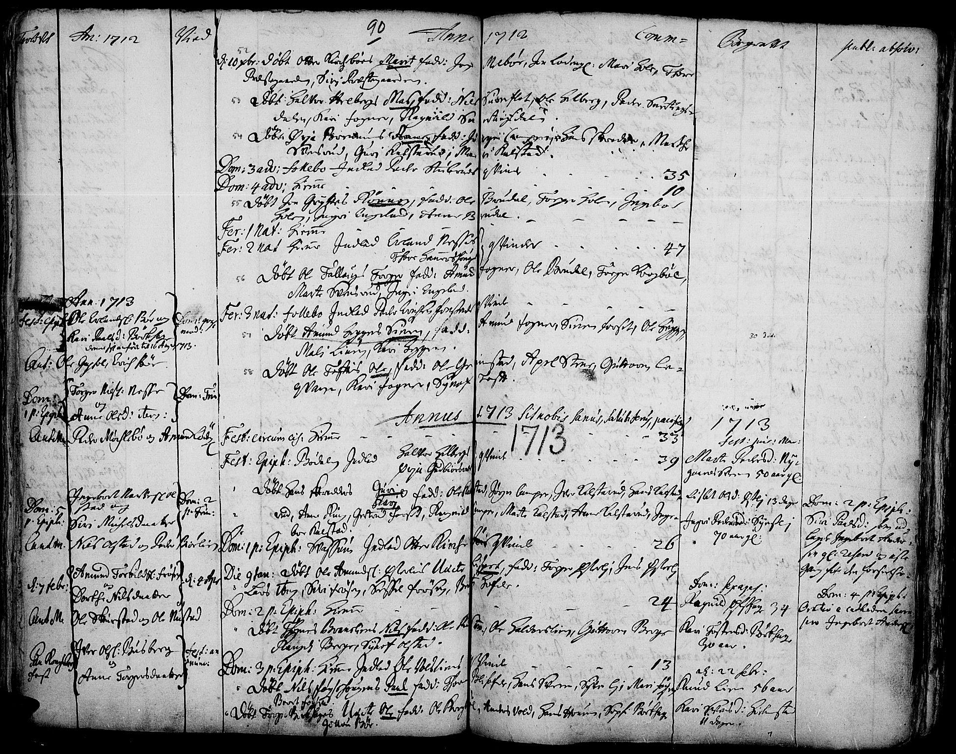 SAH, Gausdal prestekontor, Ministerialbok nr. 1, 1693-1728, s. 90