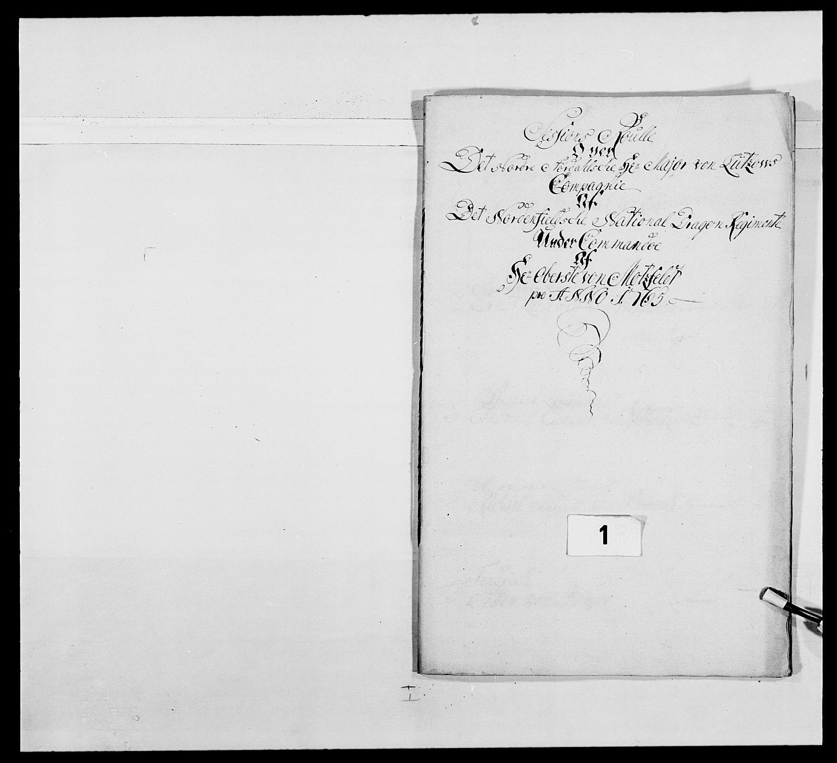 RA, Kommanderende general (KG I) med Det norske krigsdirektorium, E/Ea/L0483: Nordafjelske dragonregiment, 1765-1767, s. 6