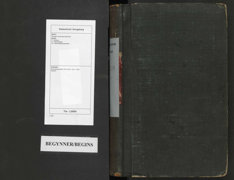 SAKO, Skoger lensmannskontor, Y/Yi/Yia/L0004: Branntakstprotokoll, 1913-1918