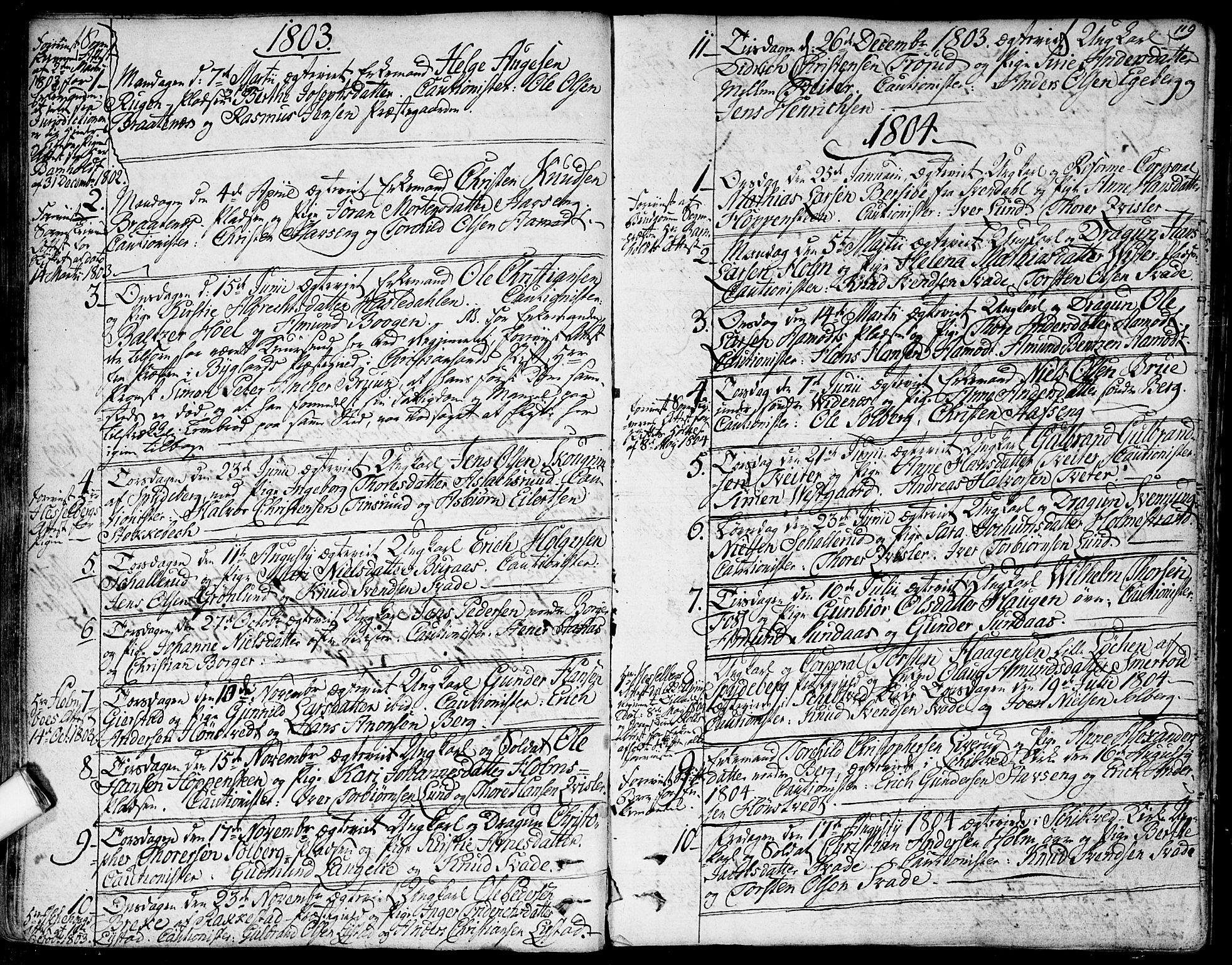SAO, Skiptvet prestekontor Kirkebøker, F/Fa/L0004: Ministerialbok nr. 4, 1794-1814, s. 119