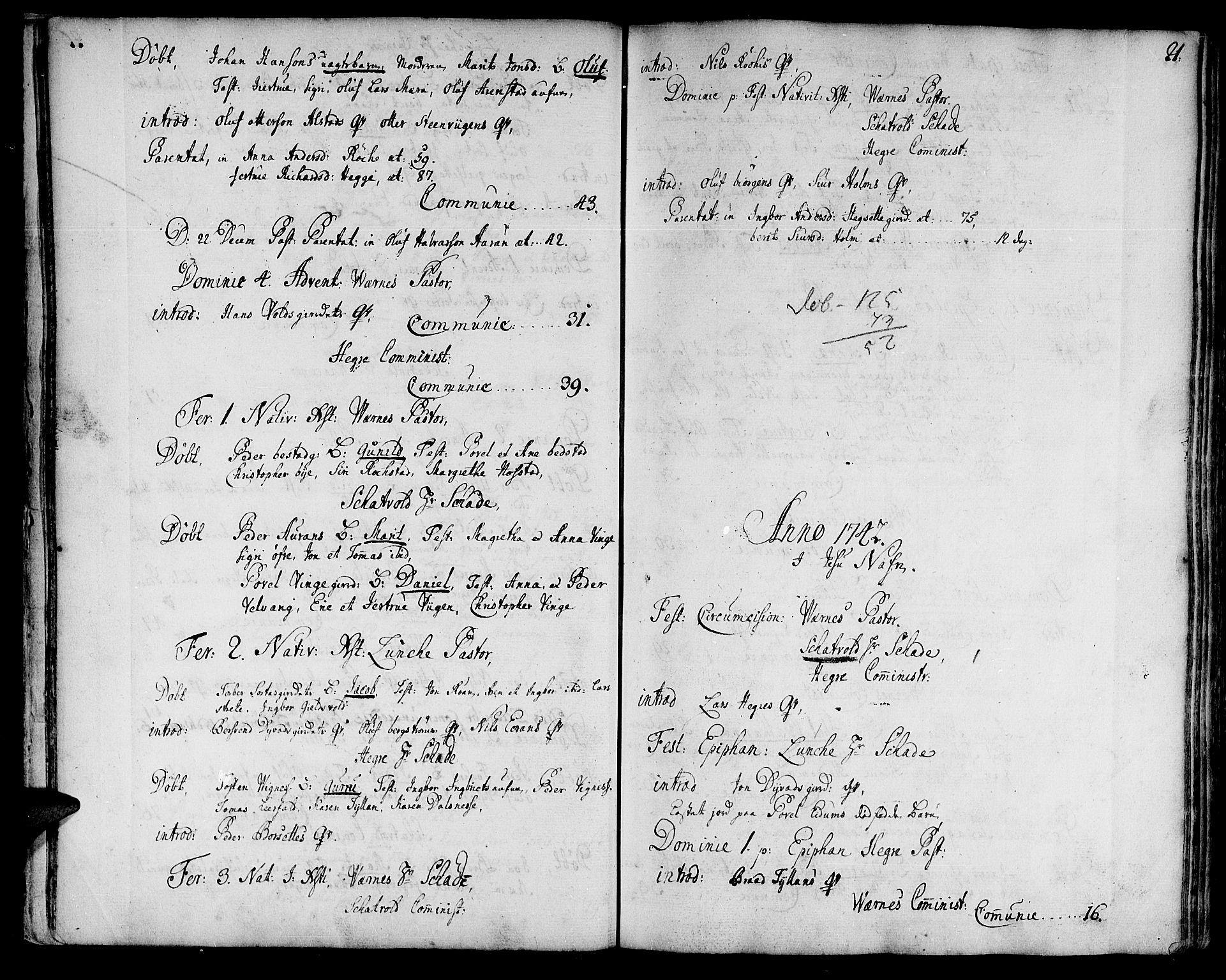 SAT, Ministerialprotokoller, klokkerbøker og fødselsregistre - Nord-Trøndelag, 709/L0056: Ministerialbok nr. 709A04, 1740-1756, s. 21