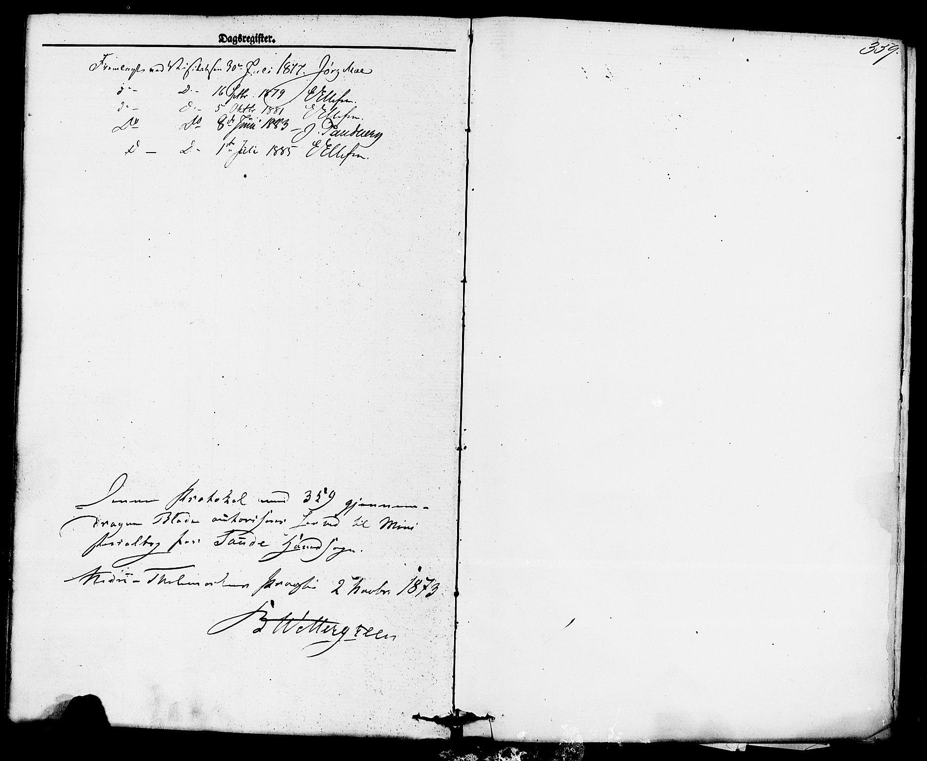 SAKO, Sauherad kirkebøker, F/Fa/L0008: Ministerialbok nr. I 8, 1873-1886, s. 359