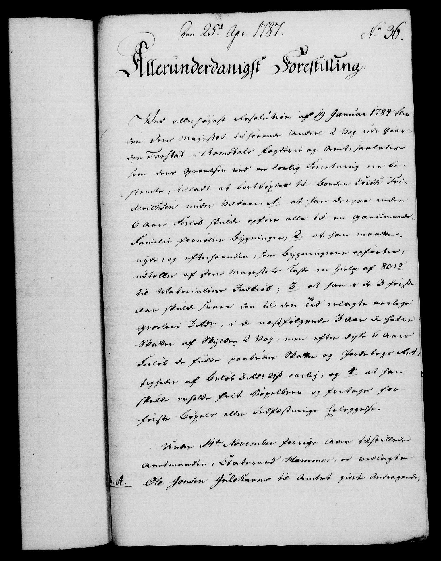 RA, Rentekammeret, Kammerkanselliet, G/Gf/Gfa/L0069: Norsk relasjons- og resolusjonsprotokoll (merket RK 52.69), 1787, s. 301
