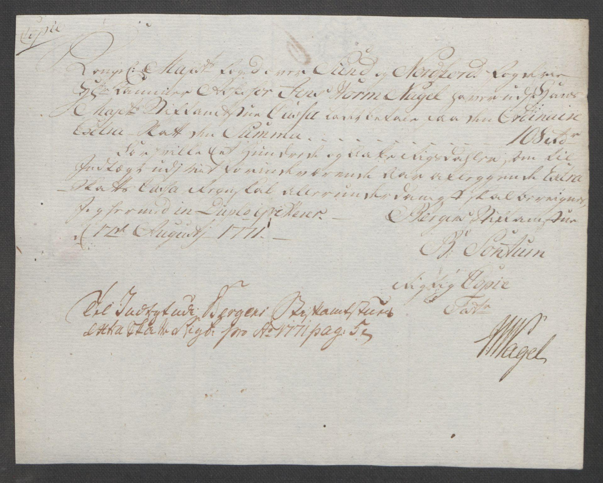 RA, Rentekammeret inntil 1814, Reviderte regnskaper, Fogderegnskap, R53/L3550: Ekstraskatten Sunn- og Nordfjord, 1762-1771, s. 358