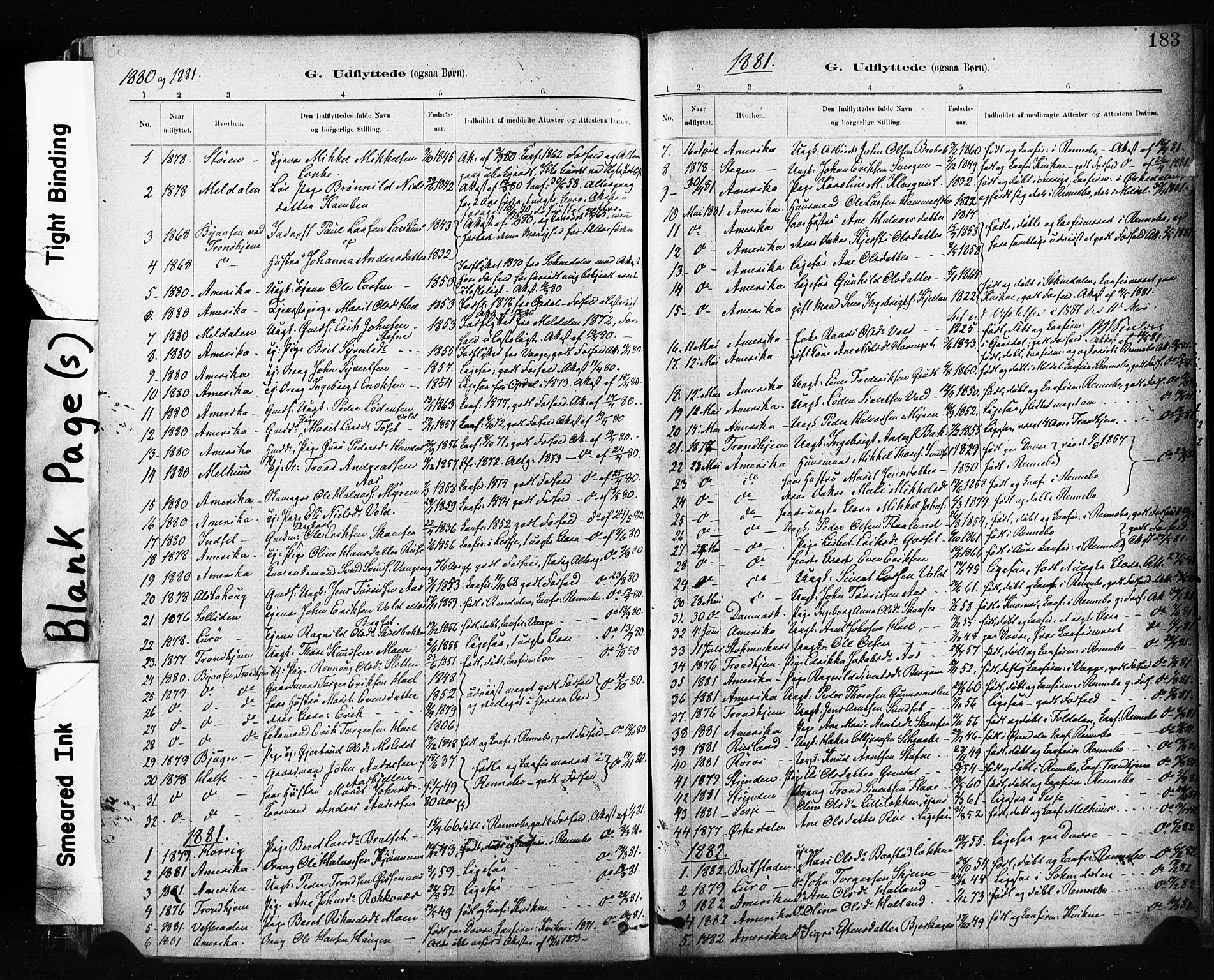 SAT, Ministerialprotokoller, klokkerbøker og fødselsregistre - Sør-Trøndelag, 674/L0871: Ministerialbok nr. 674A03, 1880-1896, s. 183