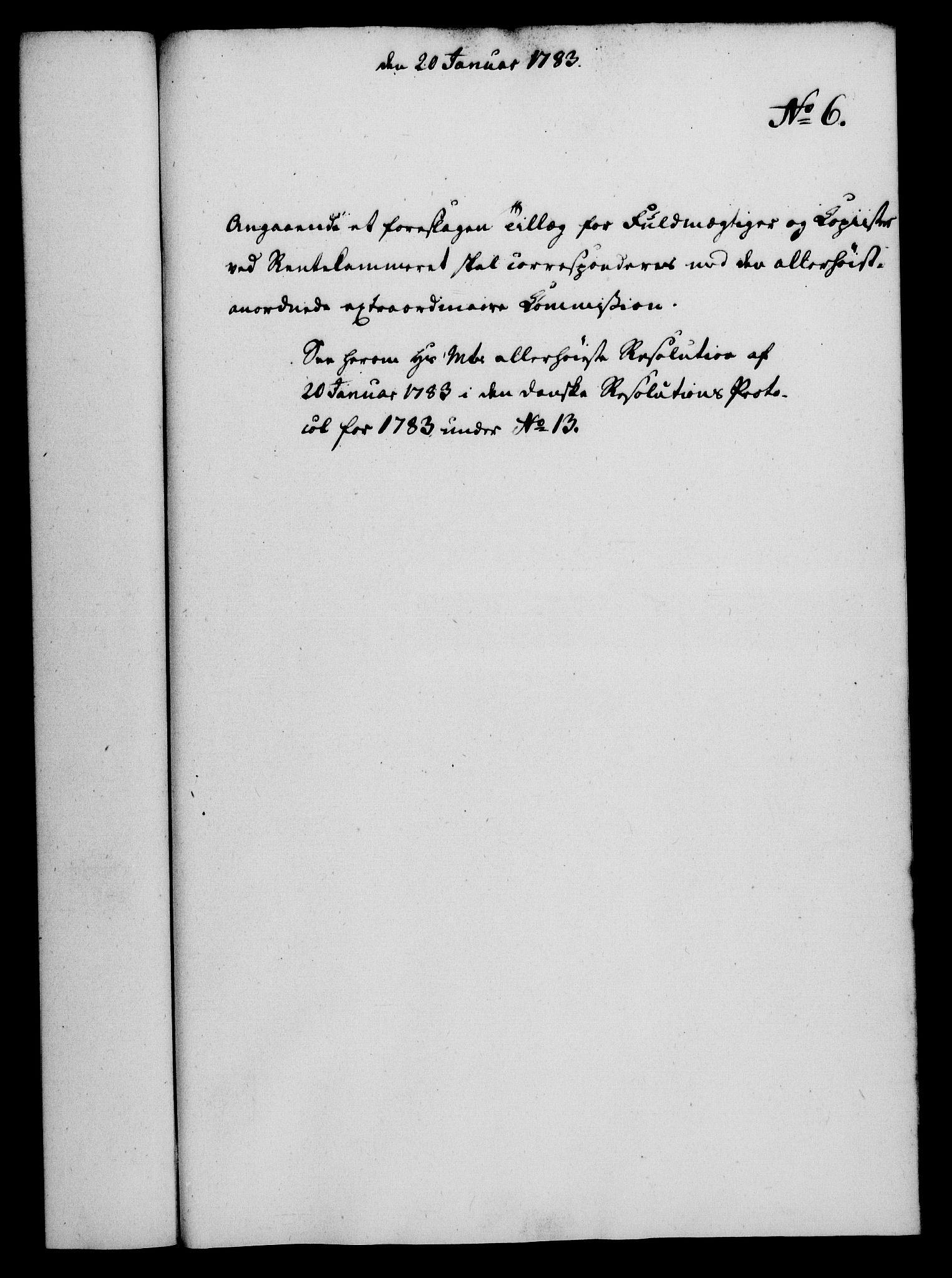 RA, Rentekammeret, Kammerkanselliet, G/Gf/Gfa/L0065: Norsk relasjons- og resolusjonsprotokoll (merket RK 52.65), 1783, s. 52