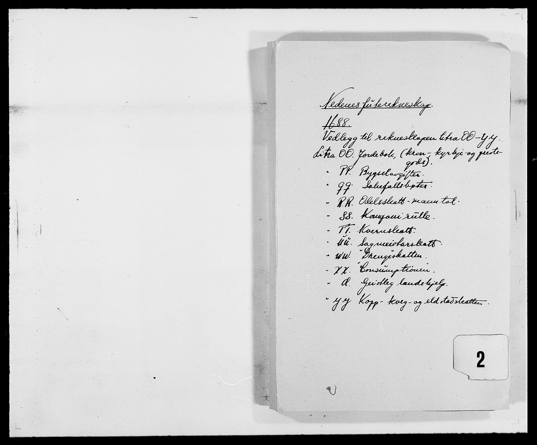 RA, Rentekammeret inntil 1814, Reviderte regnskaper, Fogderegnskap, R39/L2309: Fogderegnskap Nedenes, 1684-1689, s. 136