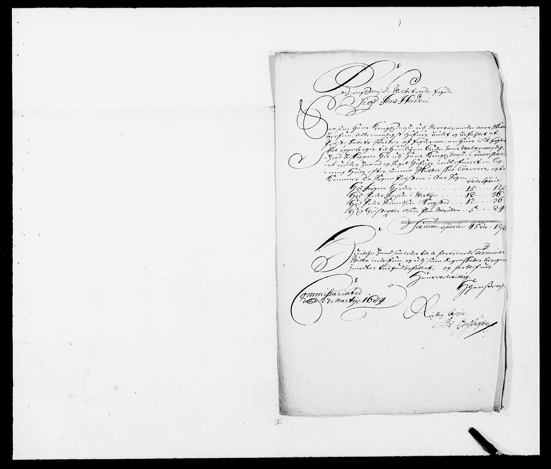 RA, Rentekammeret inntil 1814, Reviderte regnskaper, Fogderegnskap, R09/L0431: Fogderegnskap Follo, 1684, s. 222