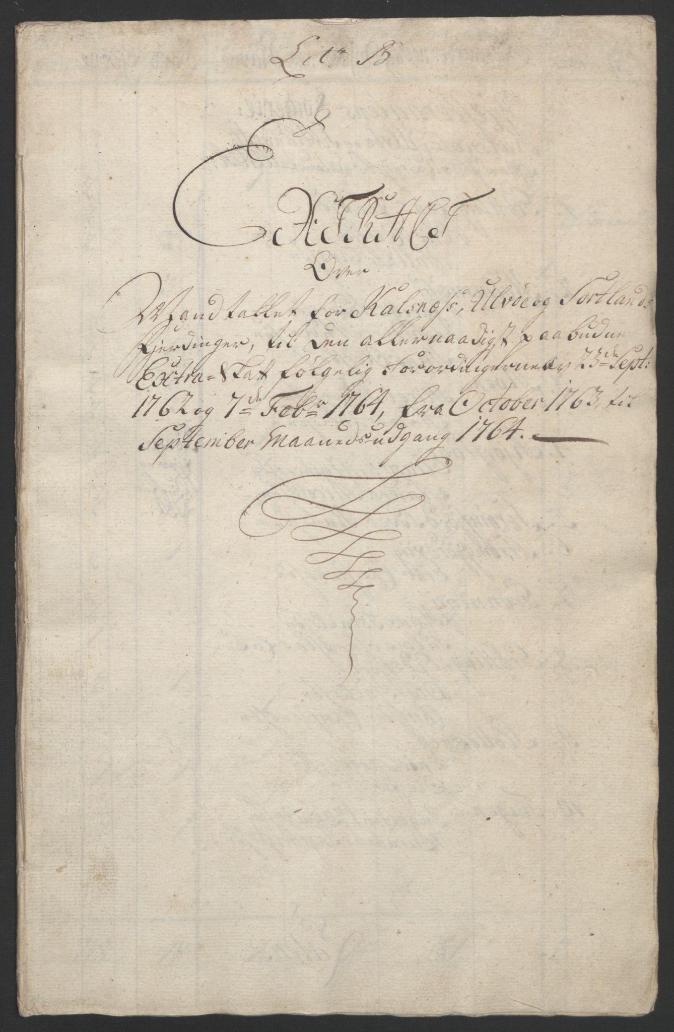 RA, Rentekammeret inntil 1814, Reviderte regnskaper, Fogderegnskap, R67/L4747: Ekstraskatten Vesterålen, Andenes og Lofoten, 1762-1766, s. 225