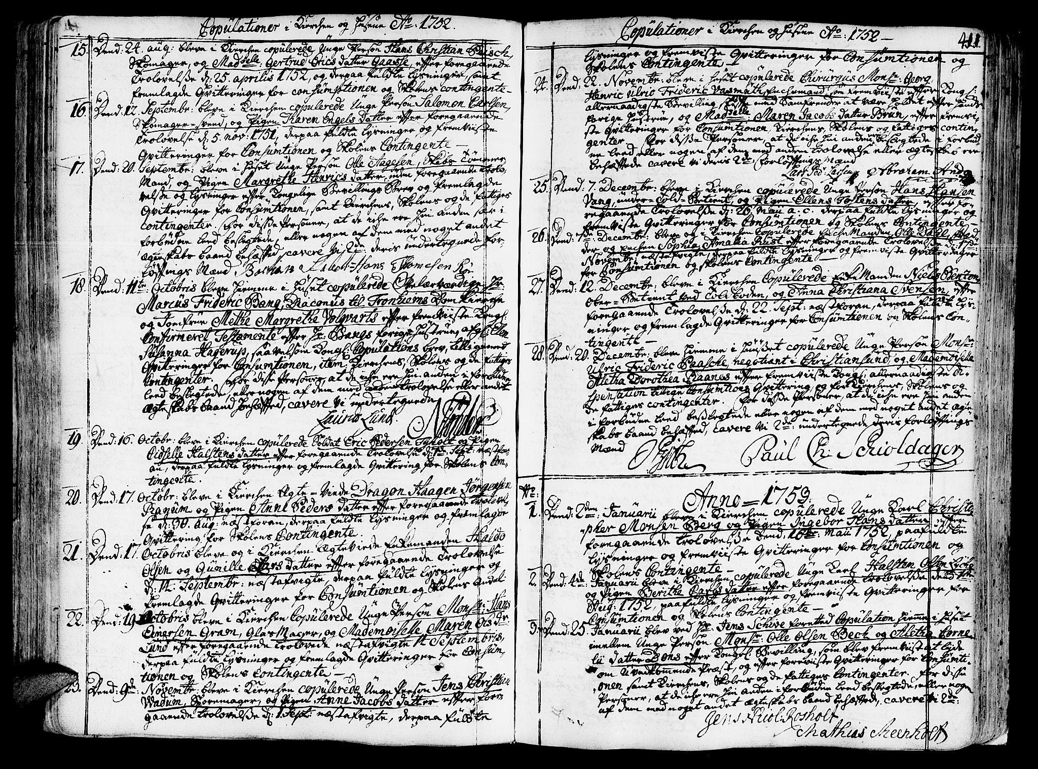 SAT, Ministerialprotokoller, klokkerbøker og fødselsregistre - Sør-Trøndelag, 602/L0103: Ministerialbok nr. 602A01, 1732-1774, s. 411