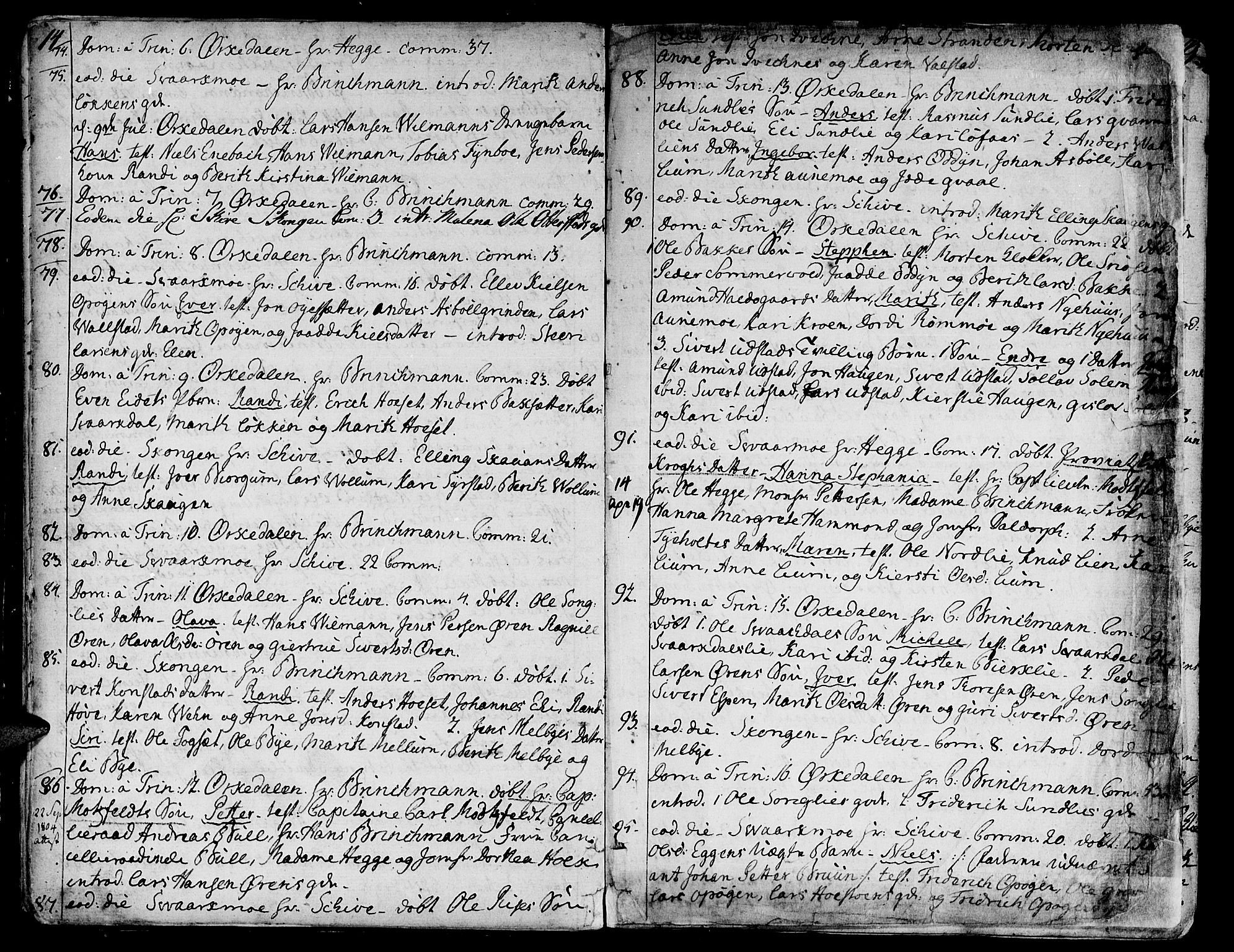 SAT, Ministerialprotokoller, klokkerbøker og fødselsregistre - Sør-Trøndelag, 668/L0802: Ministerialbok nr. 668A02, 1776-1799, s. 14-15