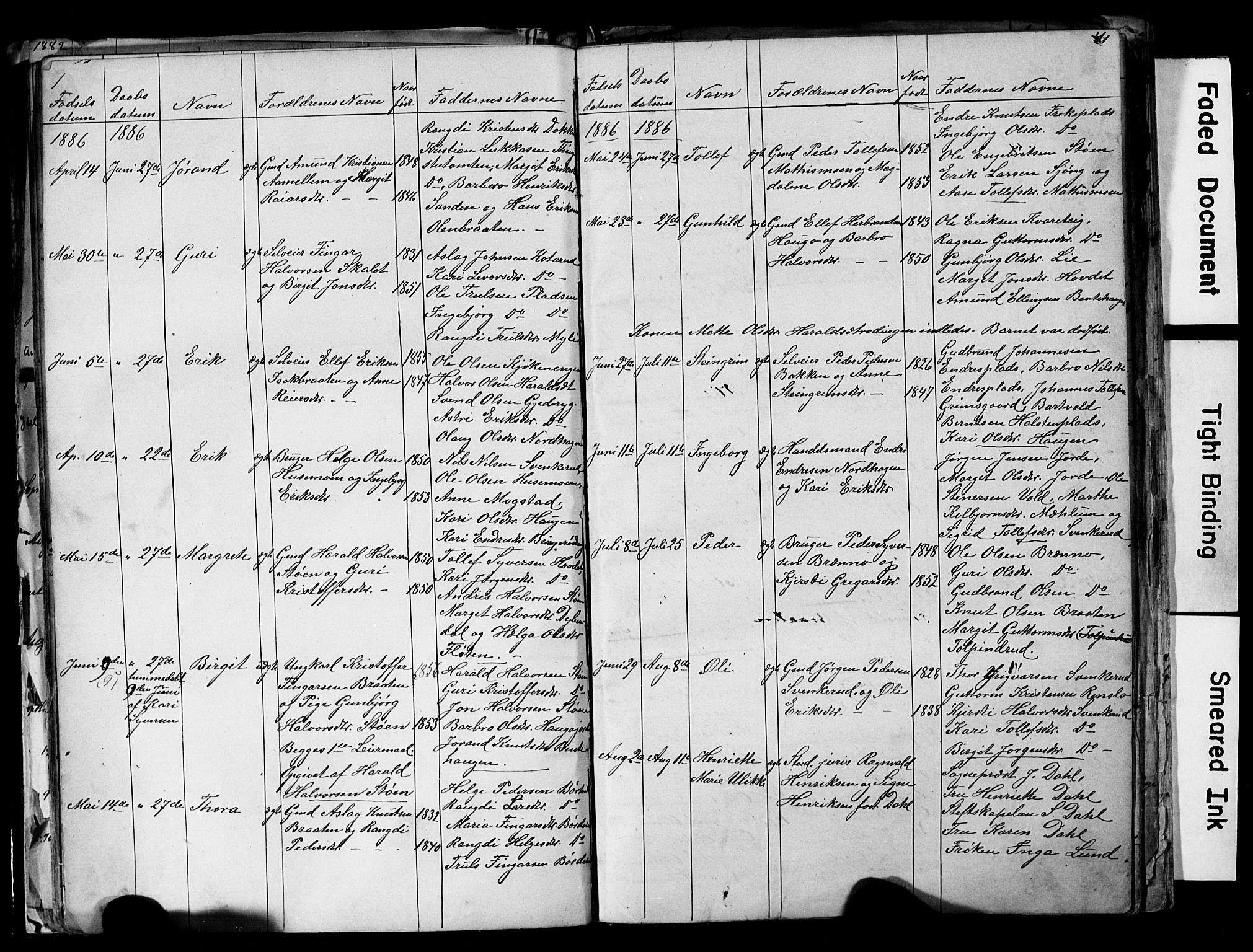 SAKO, Nes kirkebøker, G/Ga/L0002: Klokkerbok nr. I 2, 1872-1912, s. 41