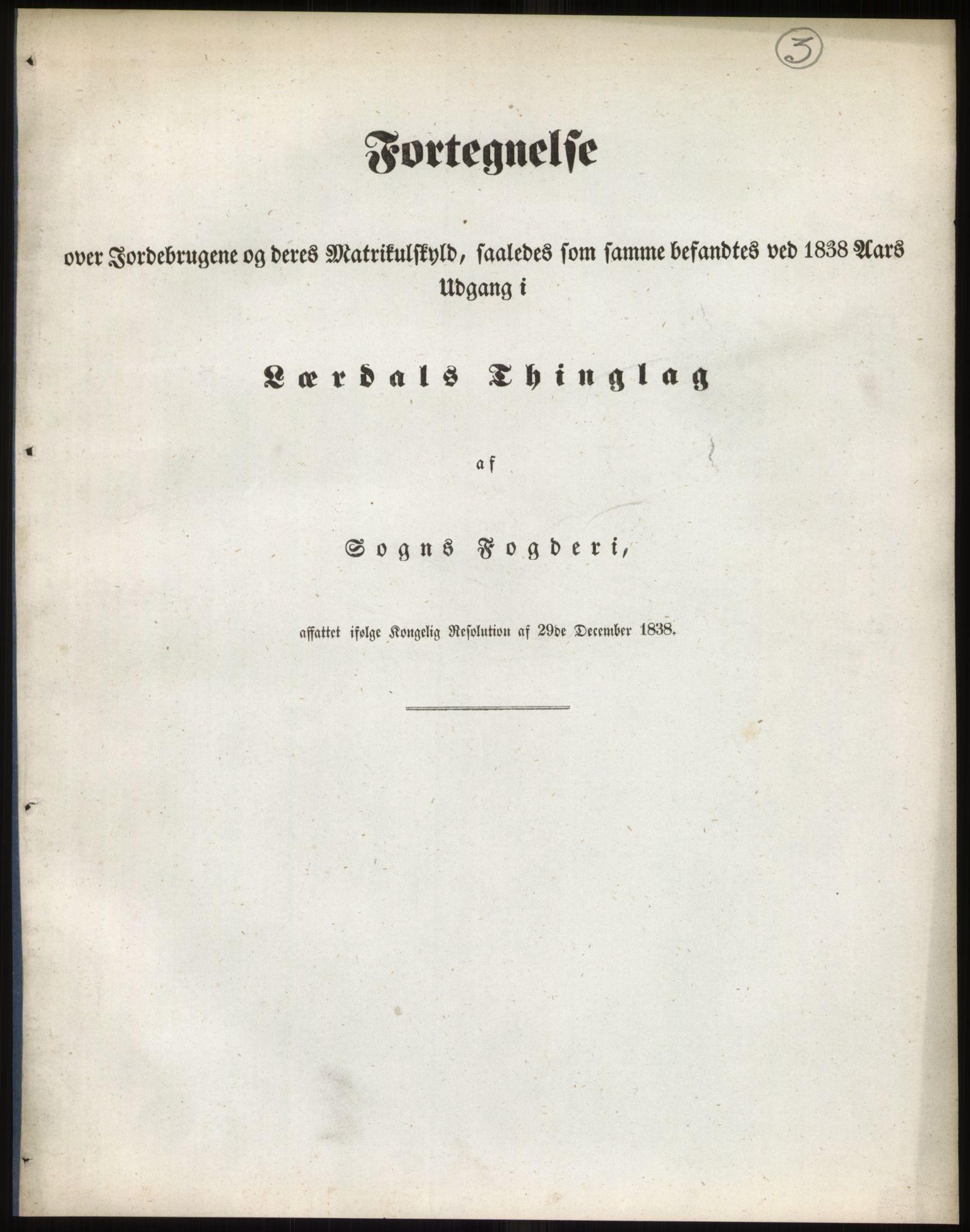 RA, 1838-matrikkelen (publikasjon)*, 1838, s. 3