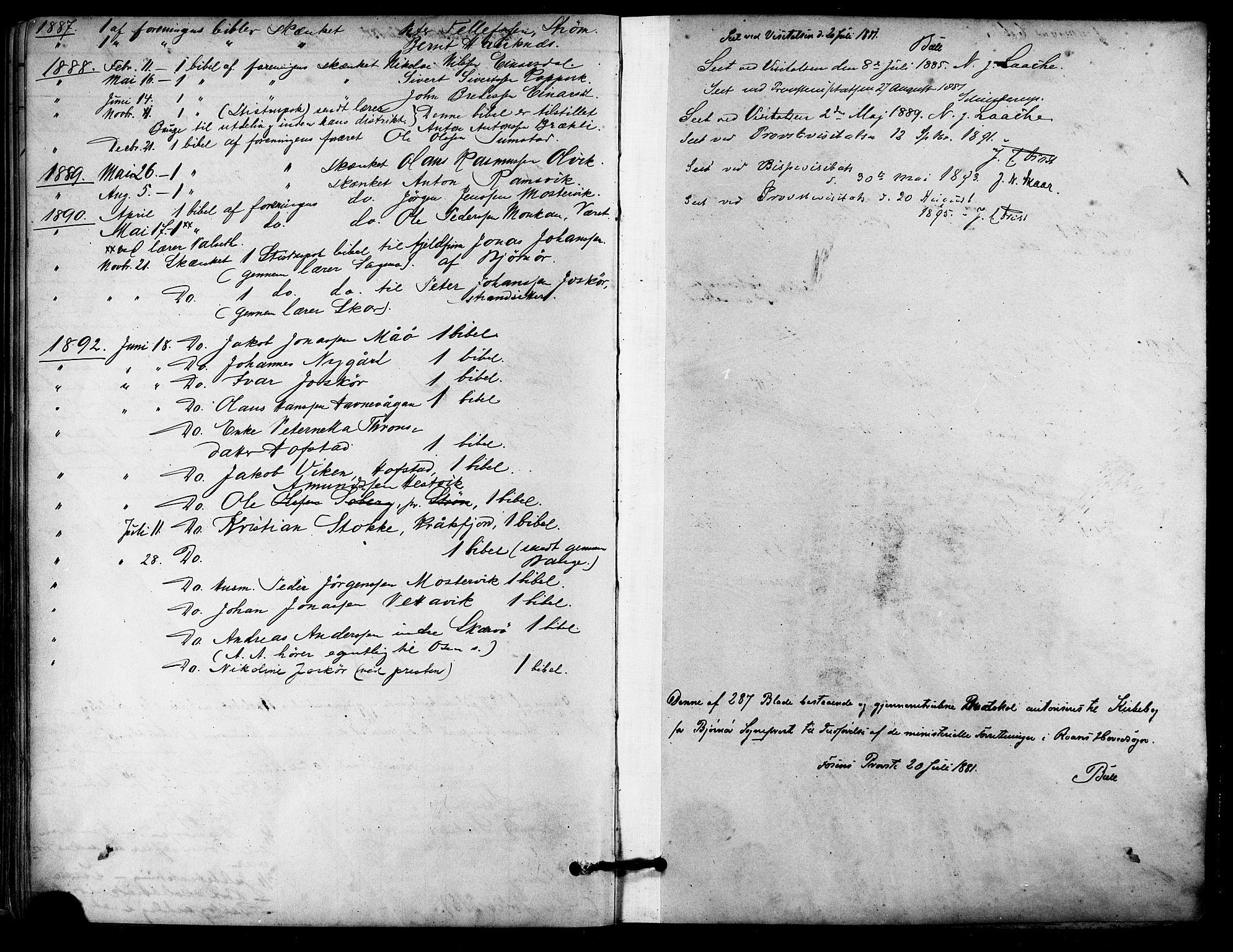 SAT, Ministerialprotokoller, klokkerbøker og fødselsregistre - Sør-Trøndelag, 657/L0707: Ministerialbok nr. 657A08, 1879-1893