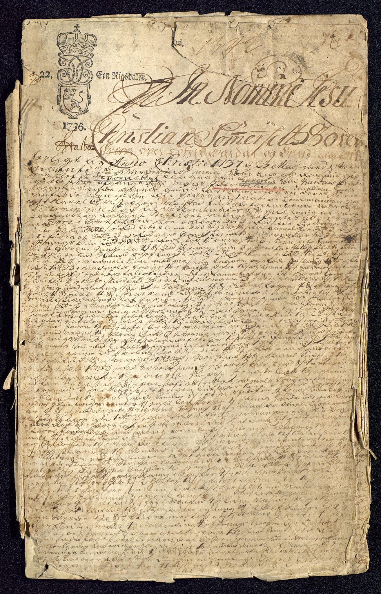 SAH, Oplandenes amt, O/Oc/L0100: Avskrifter av skifter, 1737, s. 1a