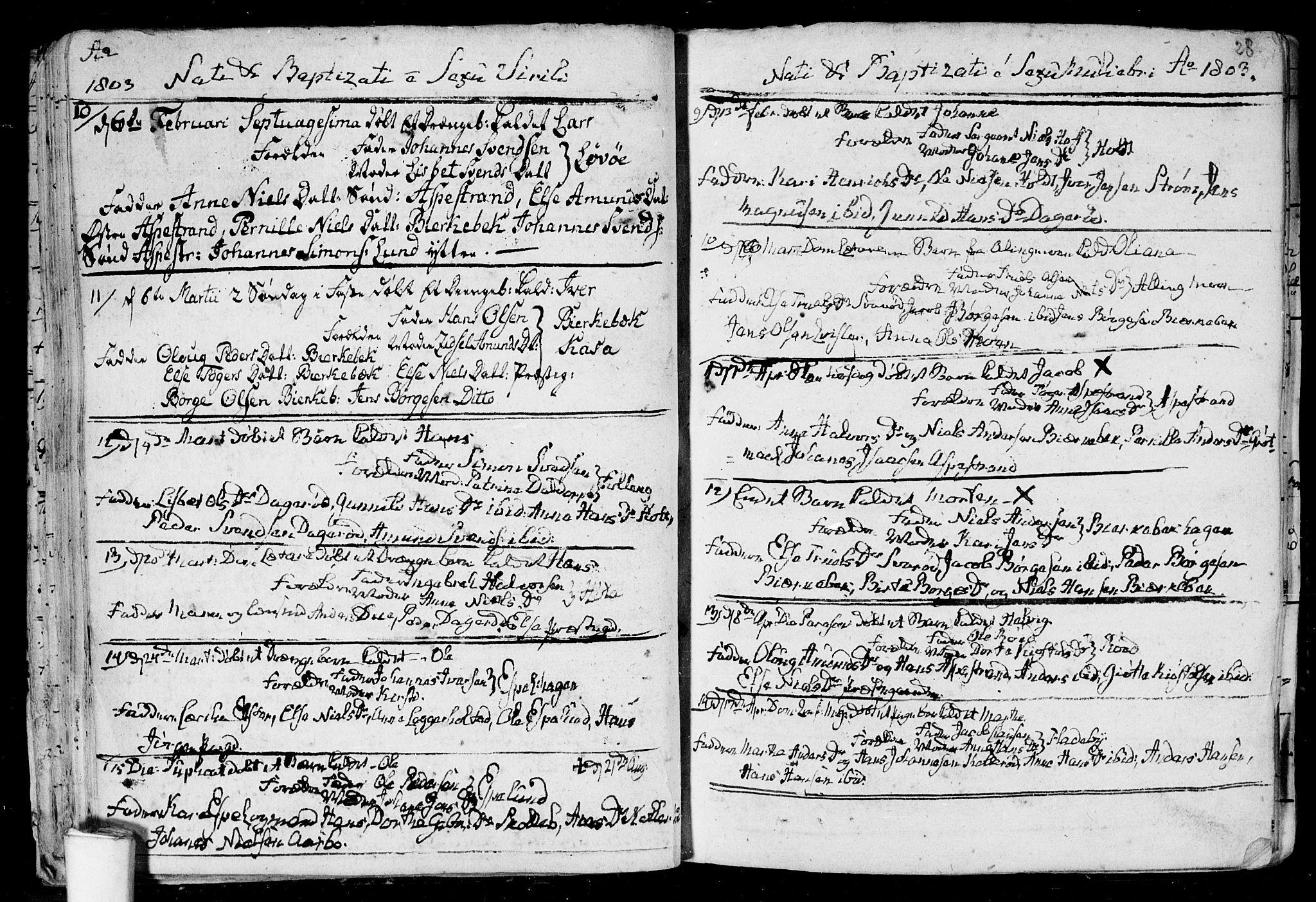 SAO, Aremark prestekontor Kirkebøker, F/Fa/L0004: Ministerialbok nr. I 4, 1796-1814, s. 28