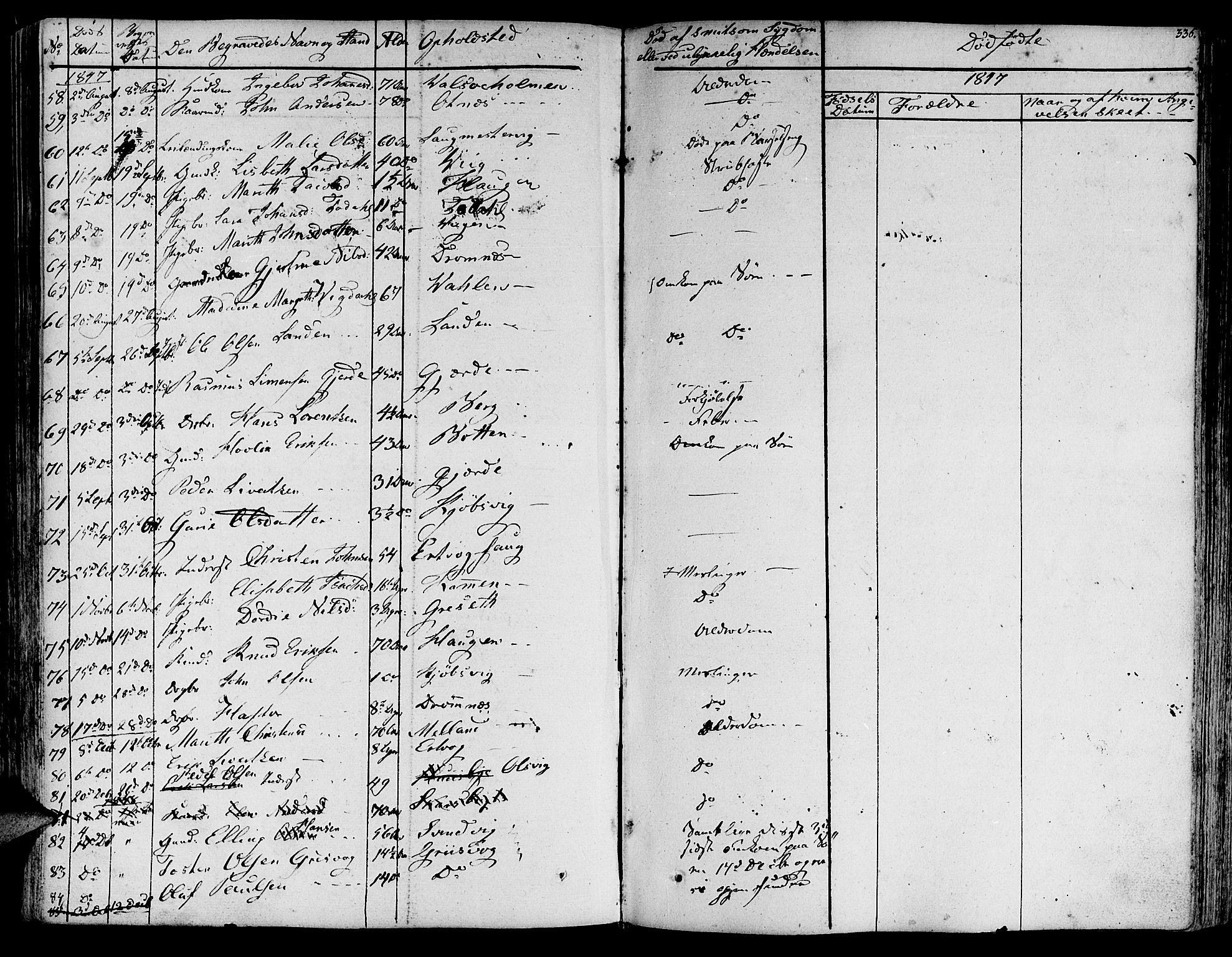 SAT, Ministerialprotokoller, klokkerbøker og fødselsregistre - Møre og Romsdal, 578/L0904: Ministerialbok nr. 578A03, 1836-1858, s. 336