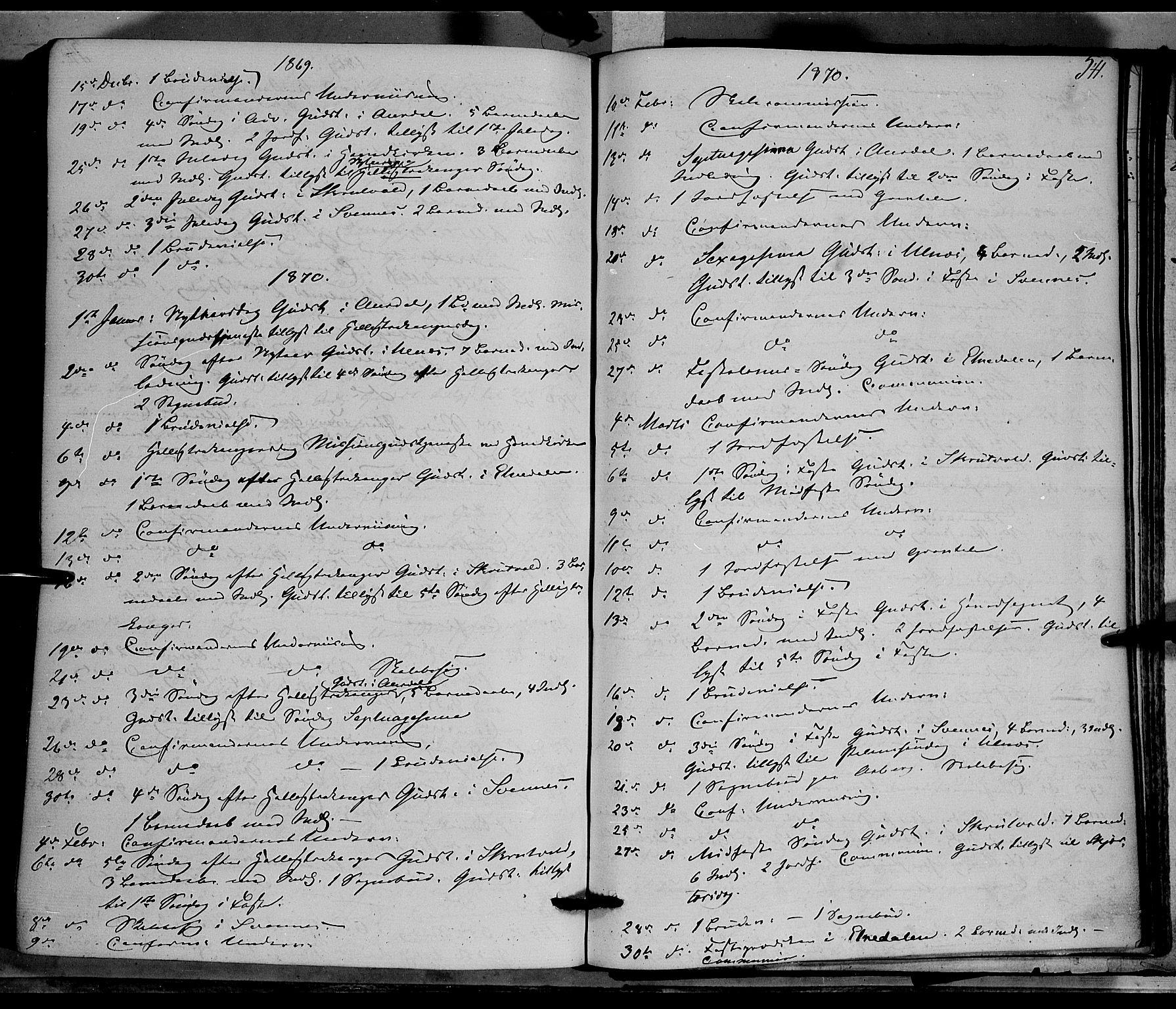 SAH, Nord-Aurdal prestekontor, Ministerialbok nr. 8, 1863-1875, s. 541