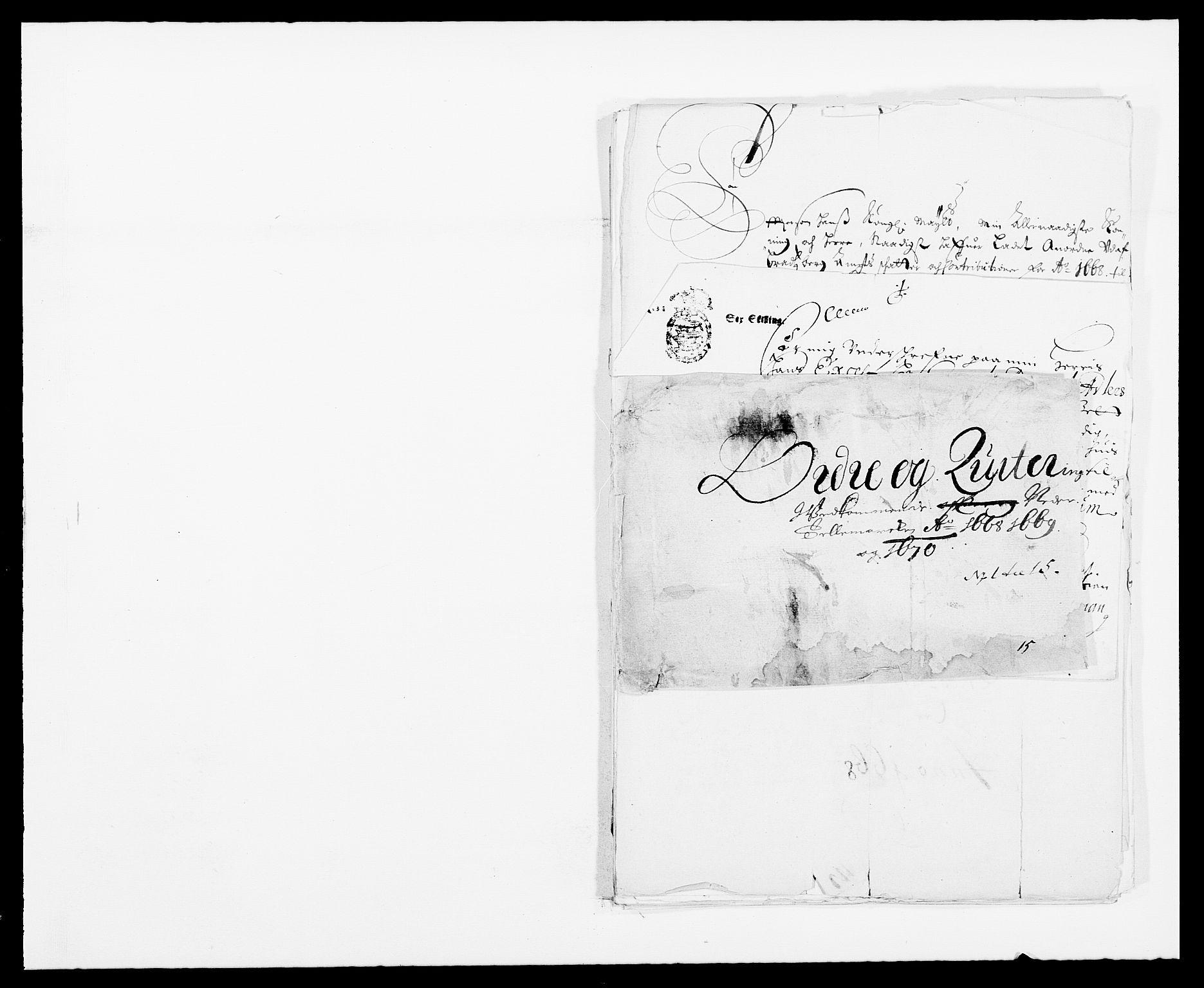 RA, Rentekammeret inntil 1814, Reviderte regnskaper, Fogderegnskap, R35/L2058: Fogderegnskap Øvre og Nedre Telemark, 1668-1670, s. 397