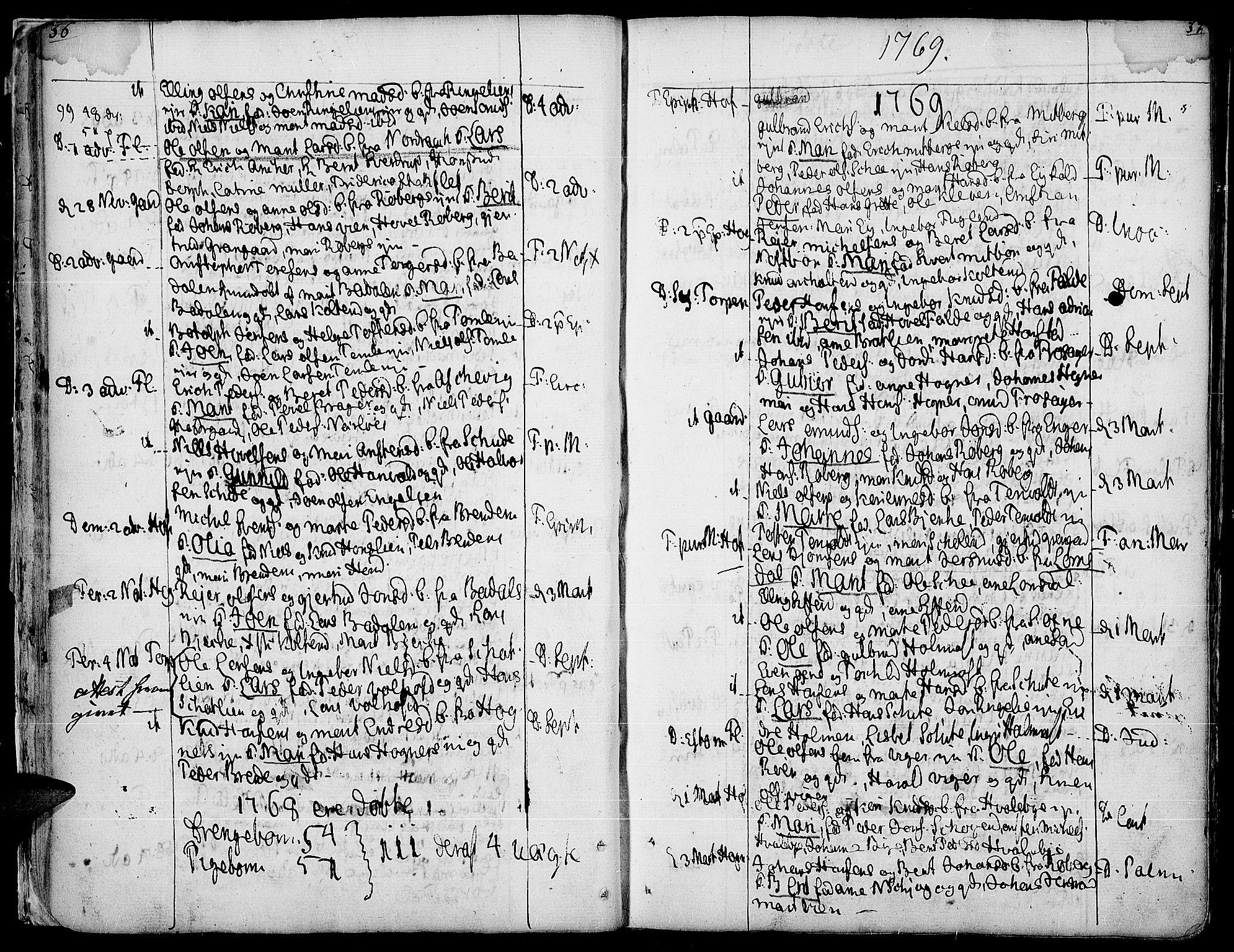 SAH, Land prestekontor, Ministerialbok nr. 5, 1765-1784, s. 36-37