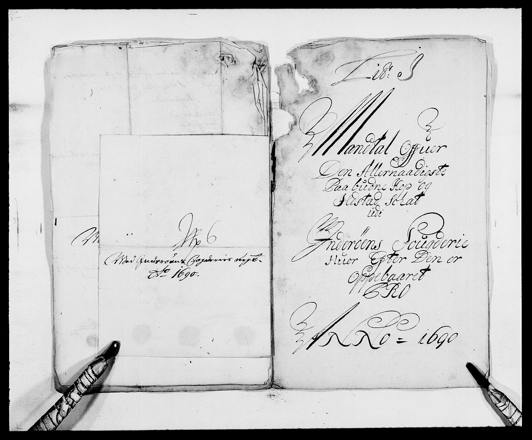RA, Rentekammeret inntil 1814, Reviderte regnskaper, Fogderegnskap, R63/L4307: Fogderegnskap Inderøy, 1690-1691, s. 126
