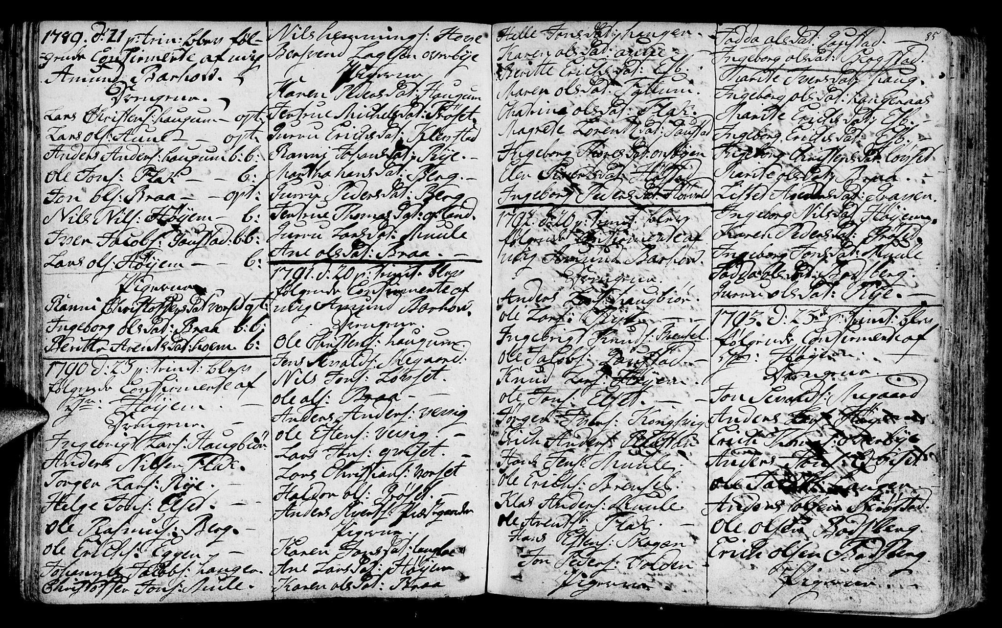 SAT, Ministerialprotokoller, klokkerbøker og fødselsregistre - Sør-Trøndelag, 612/L0370: Ministerialbok nr. 612A04, 1754-1802, s. 85