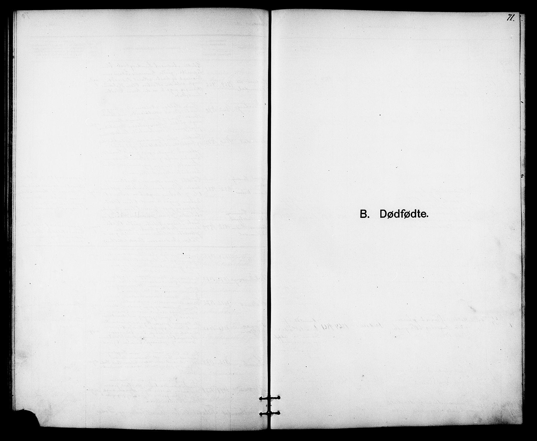 SAT, Ministerialprotokoller, klokkerbøker og fødselsregistre - Sør-Trøndelag, 613/L0395: Klokkerbok nr. 613C03, 1887-1909, s. 71