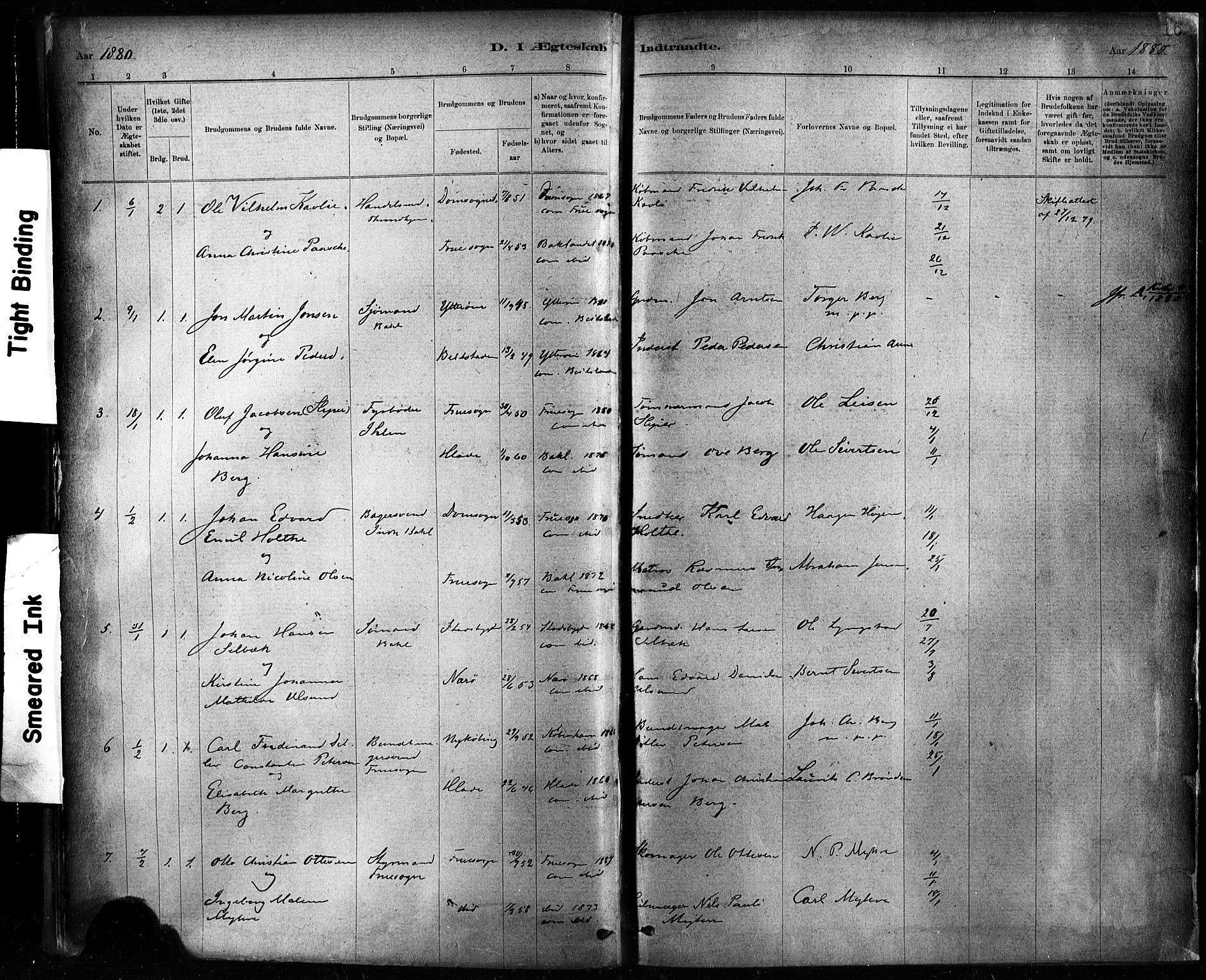 SAT, Ministerialprotokoller, klokkerbøker og fødselsregistre - Sør-Trøndelag, 604/L0189: Ministerialbok nr. 604A10, 1878-1892, s. 16
