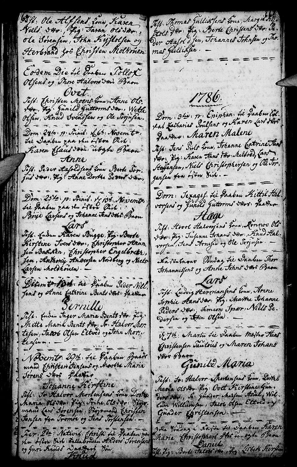 SAKO, Porsgrunn kirkebøker , G/Ga/L0001: Klokkerbok nr. I 1, 1766-1790, s. 60-61