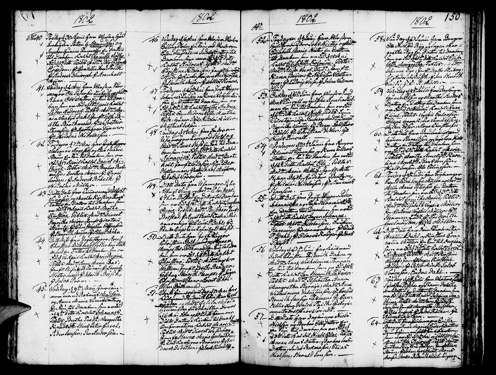 SAB, Nykirken Sokneprestembete, H/Haa: Ministerialbok nr. A 5, 1775-1808, s. 150