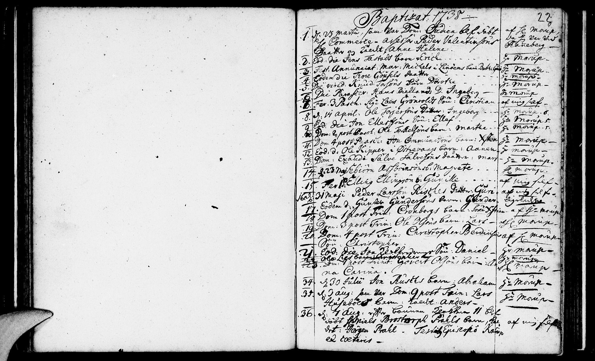 SAST, Domkirken sokneprestkontor, 30/30BA/L0003: Ministerialbok nr. A 3 /1, 1738-1760, s. 22