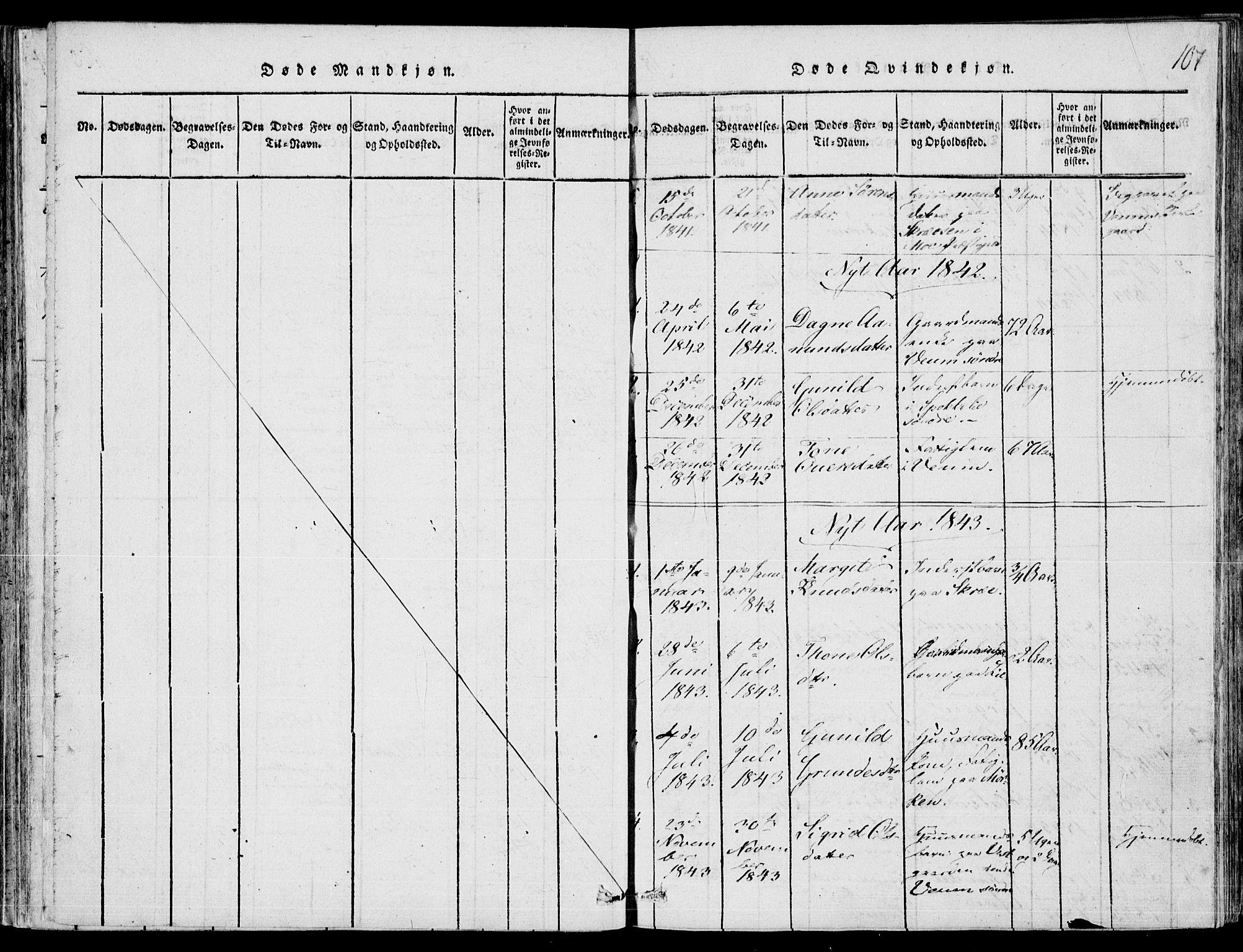 SAKO, Fyresdal kirkebøker, F/Fb/L0001: Ministerialbok nr. II 1, 1815-1854, s. 107