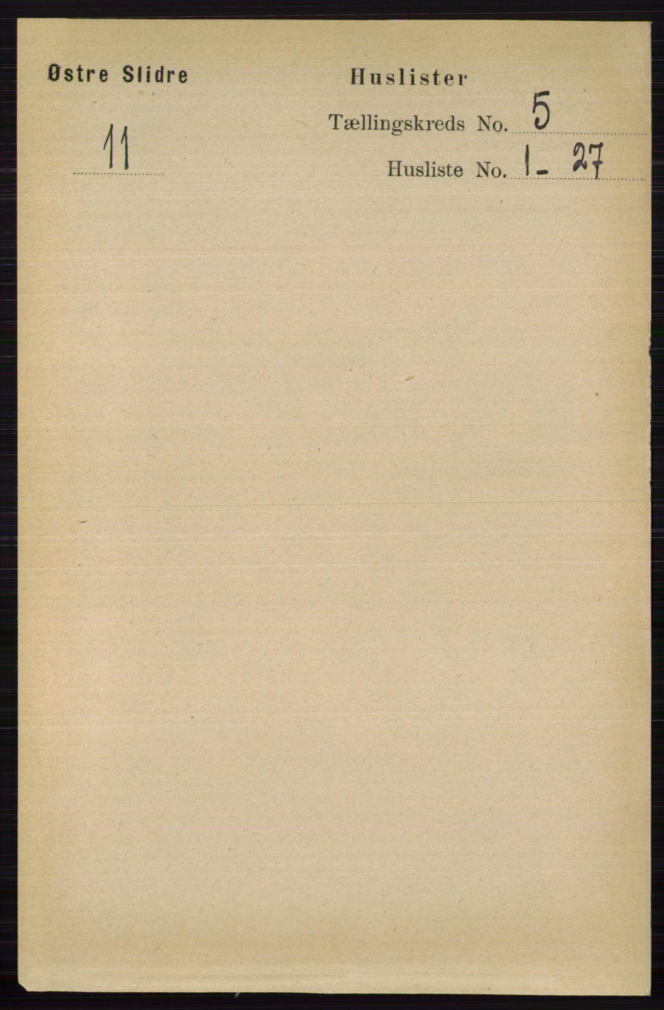 RA, Folketelling 1891 for 0544 Øystre Slidre herred, 1891, s. 1572