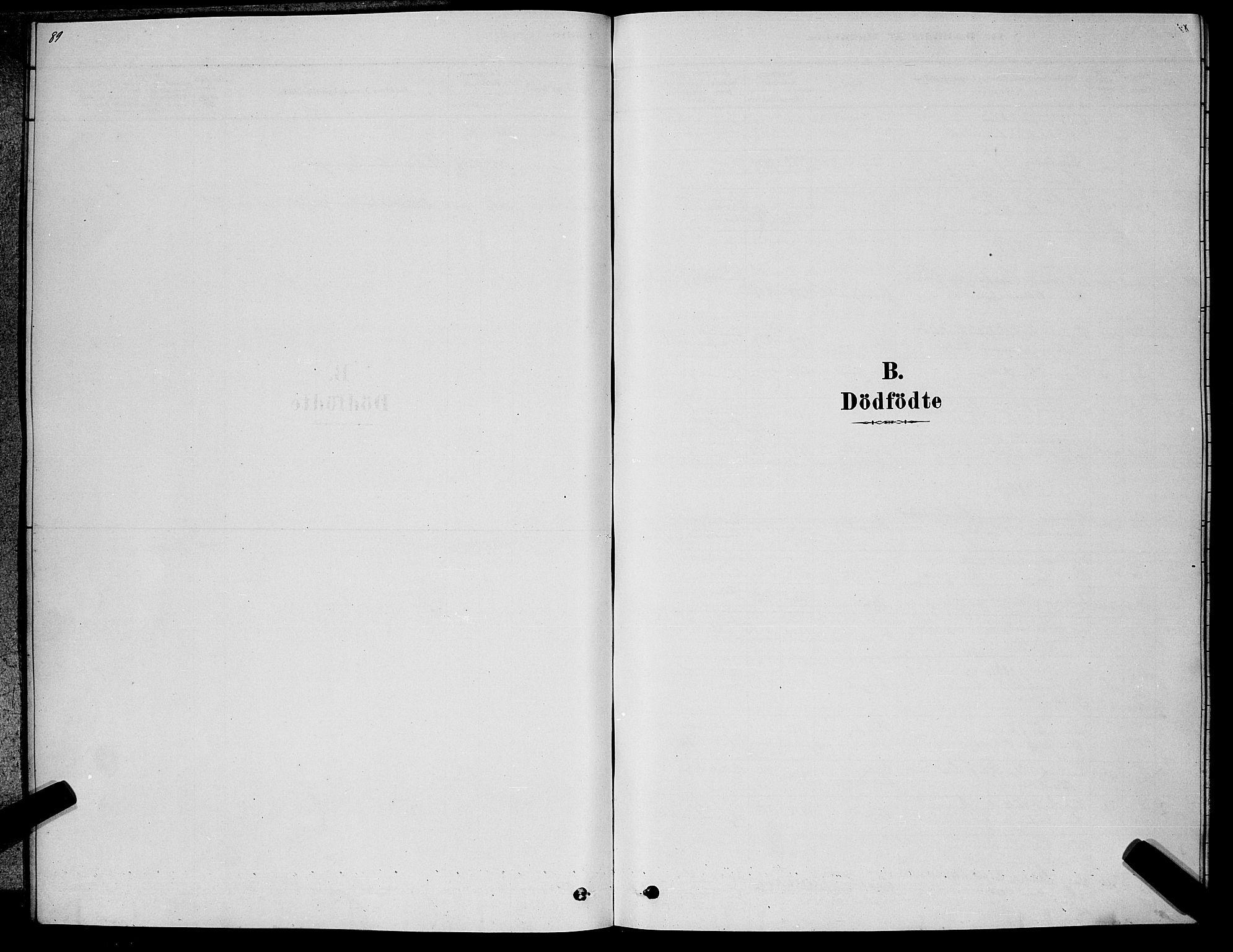 SAKO, Kongsberg kirkebøker, G/Ga/L0005: Klokkerbok nr. 5, 1878-1889, s. 89