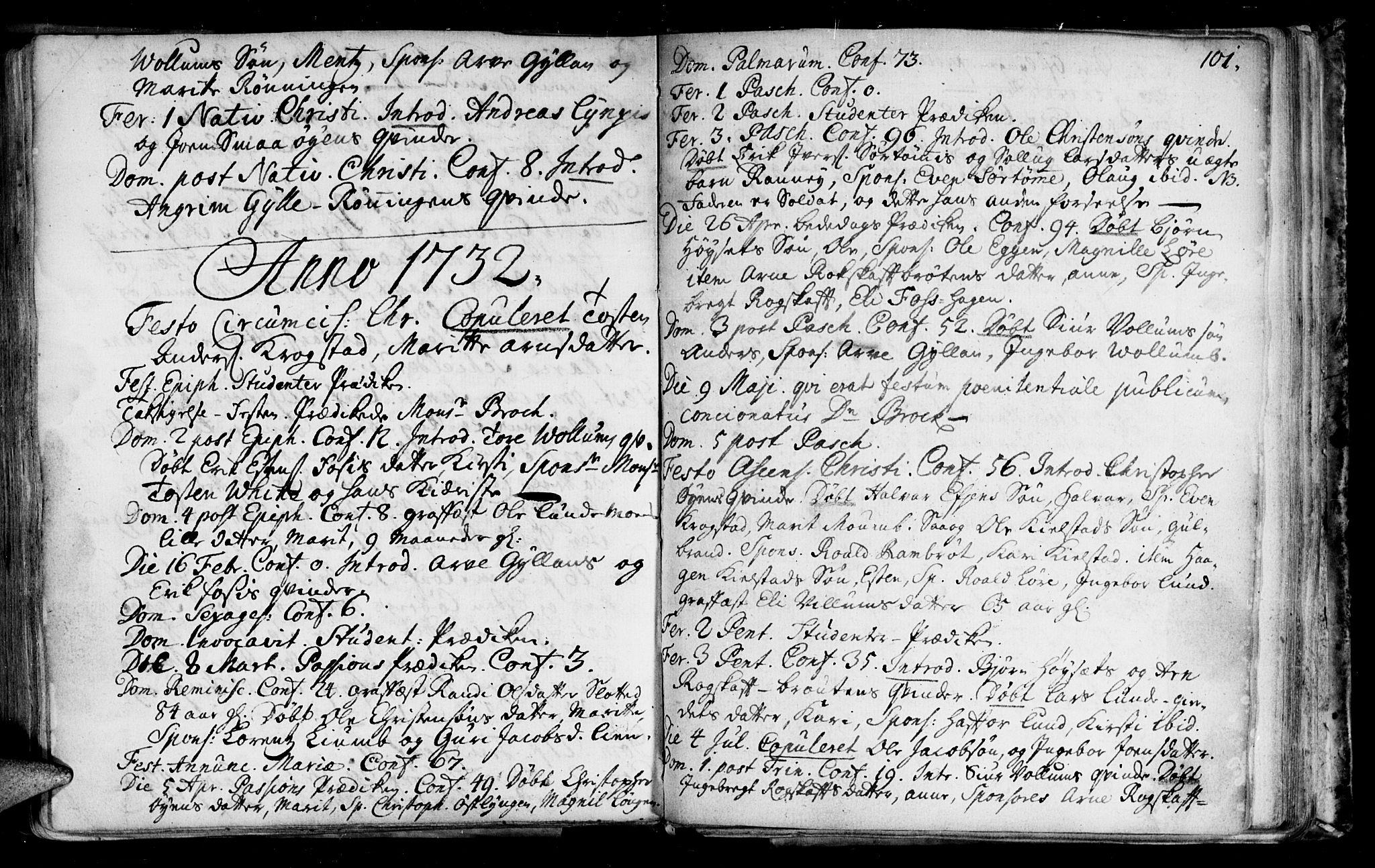 SAT, Ministerialprotokoller, klokkerbøker og fødselsregistre - Sør-Trøndelag, 692/L1101: Ministerialbok nr. 692A01, 1690-1746, s. 101