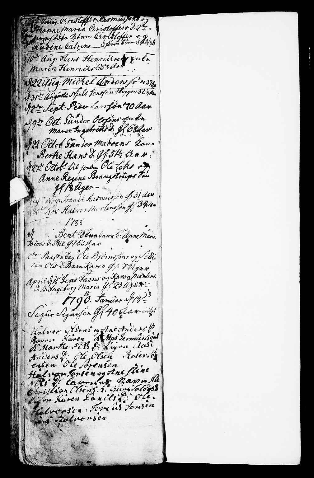 SAKO, Porsgrunn kirkebøker , G/Ga/L0001: Klokkerbok nr. I 1, 1766-1790, s. 170-171