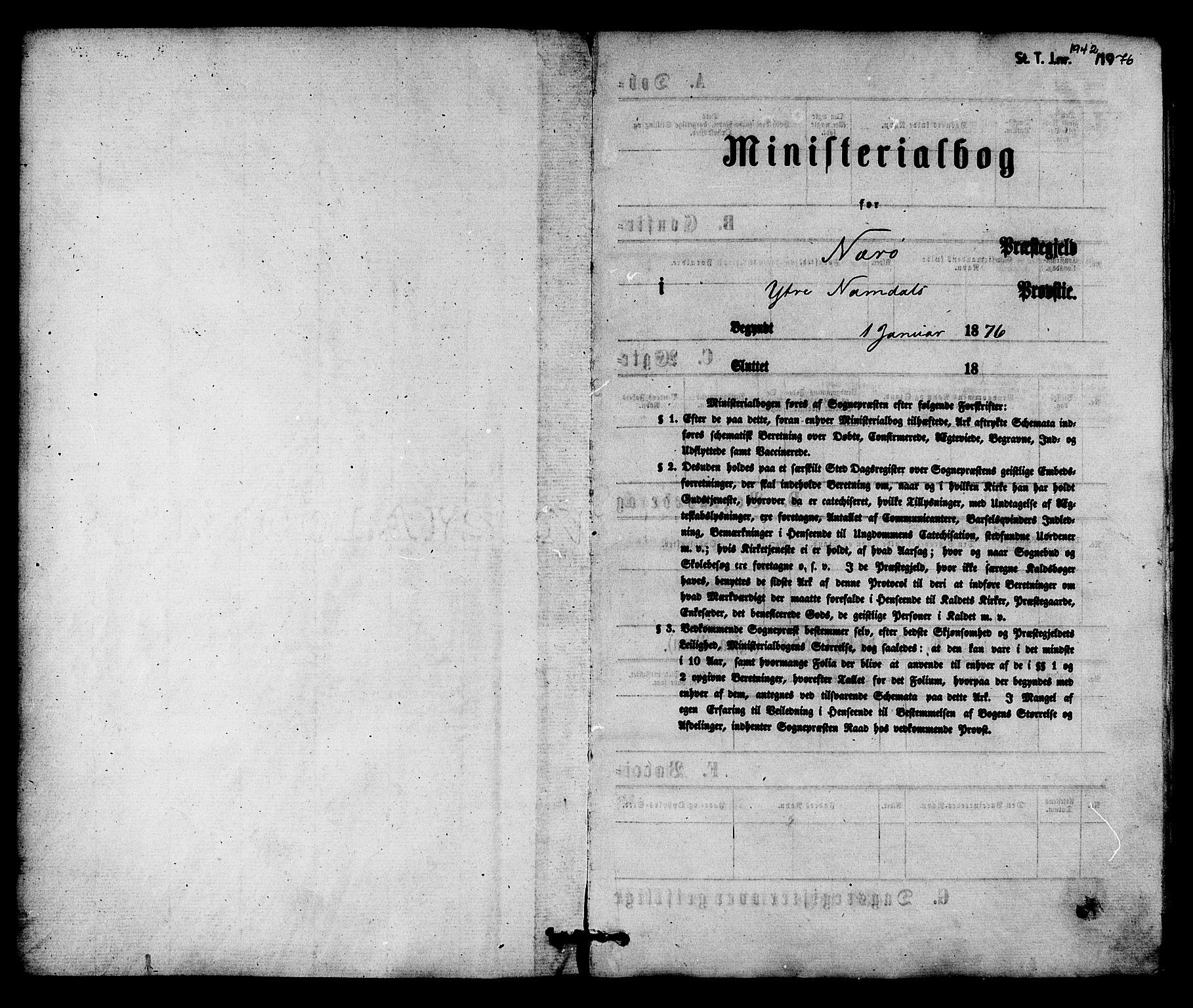 SAT, Ministerialprotokoller, klokkerbøker og fødselsregistre - Nord-Trøndelag, 784/L0671: Ministerialbok nr. 784A06, 1876-1879