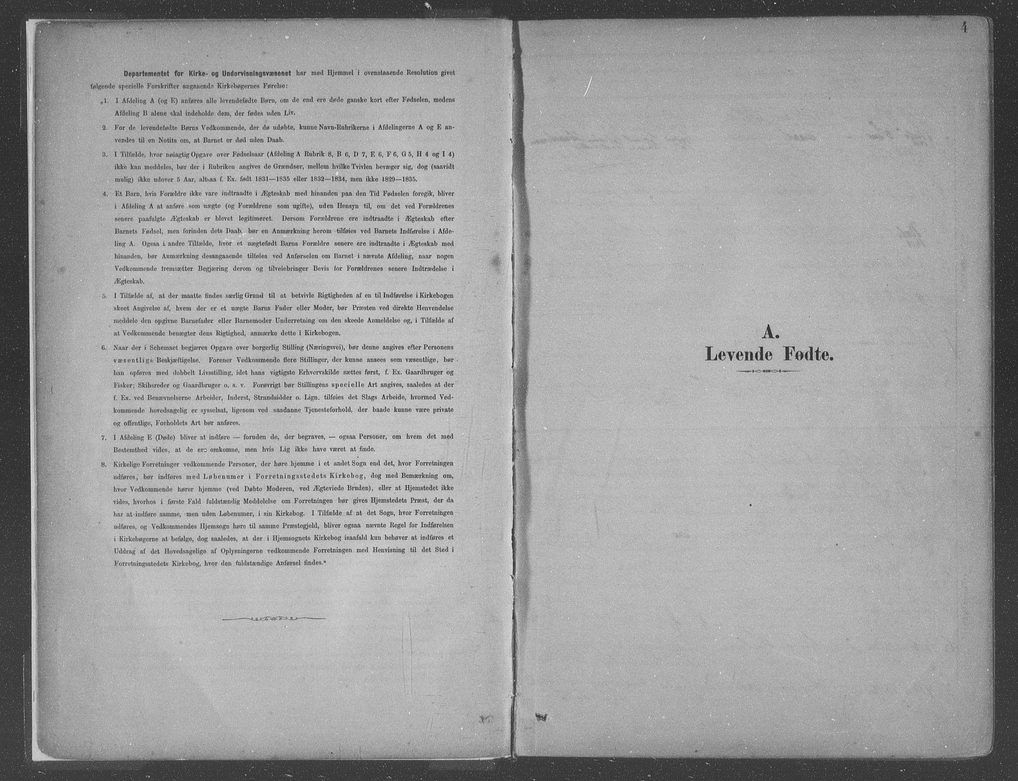 SAB, Askvoll Sokneprestembete, Ministerialbok nr. C  1, 1879-1922, s. 4