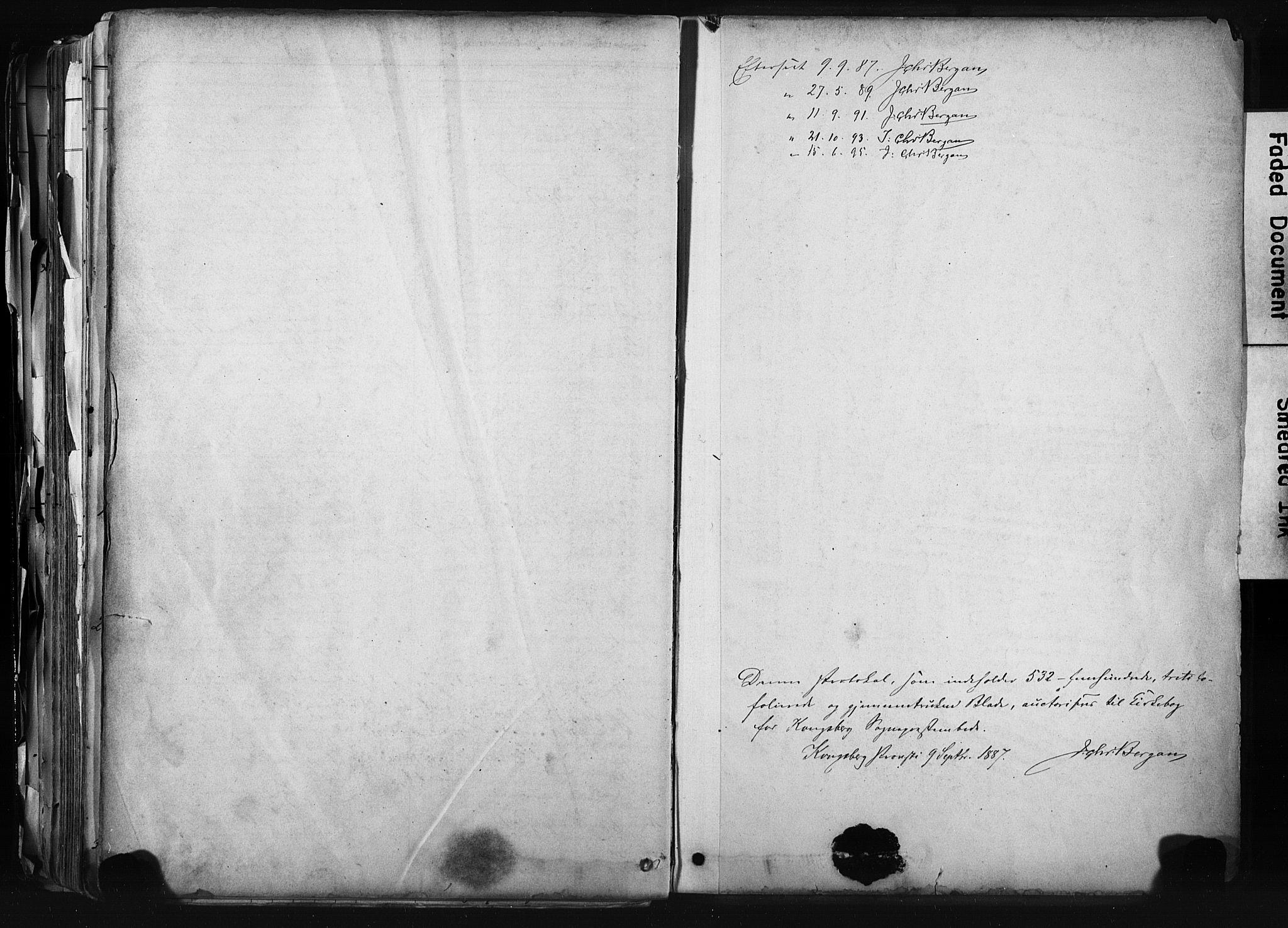 SAKO, Kongsberg kirkebøker, F/Fb/L0002: Ministerialbok nr. II 2, 1886-1896