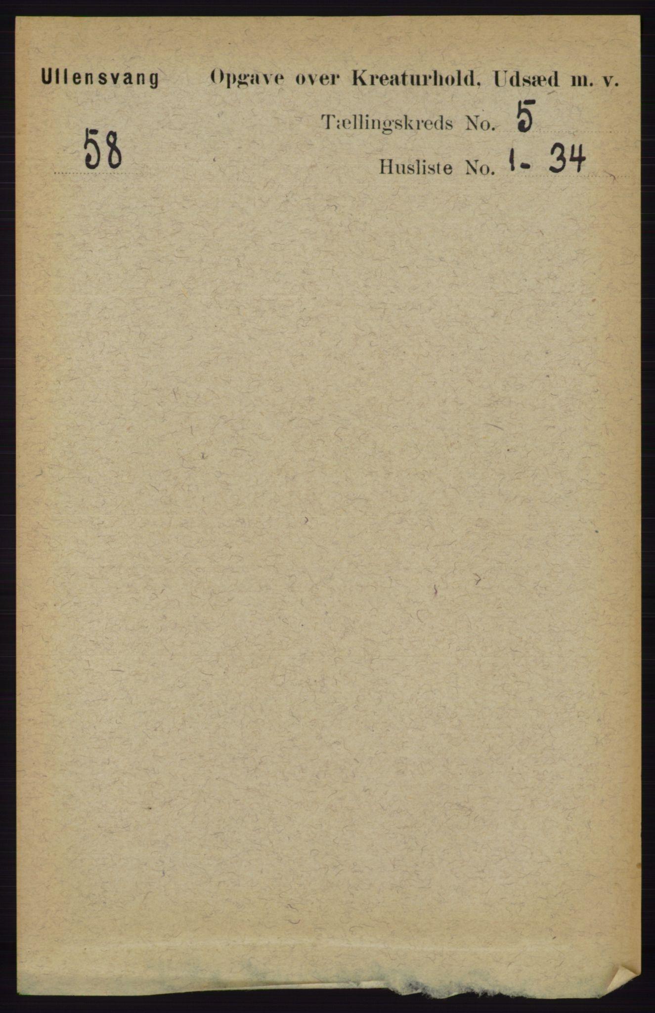 RA, Folketelling 1891 for 1230 Ullensvang herred, 1891, s. 7138