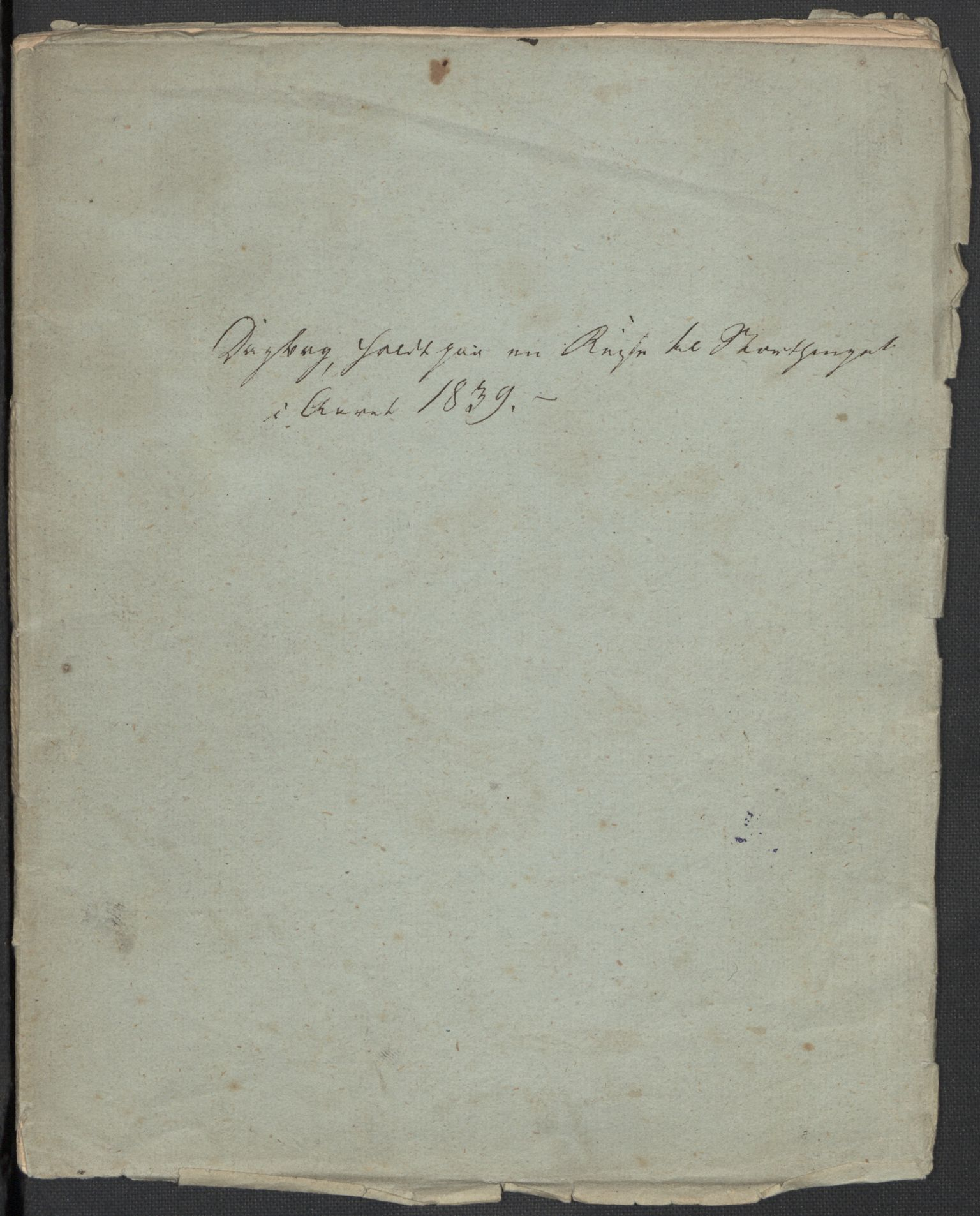 RA, Holck, Meidell, Hartvig, F/L0001: (Kassett) Dagbøker ført av Ole Elias v.Holck, 1798-1842, s. 446