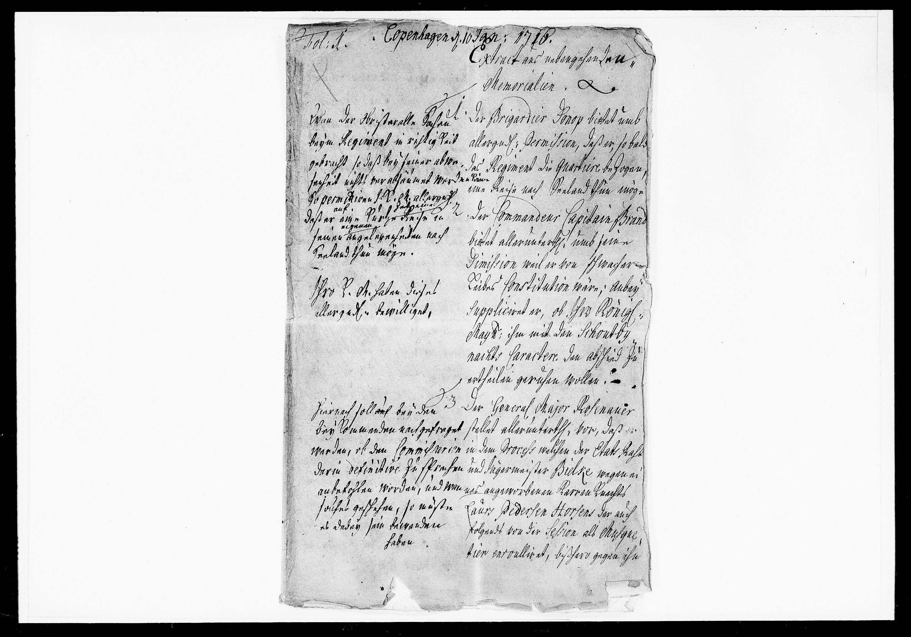DRA, Krigskollegiet, Krigskancelliet, -/1025-1036: Refererede sager, 1716, s. 2