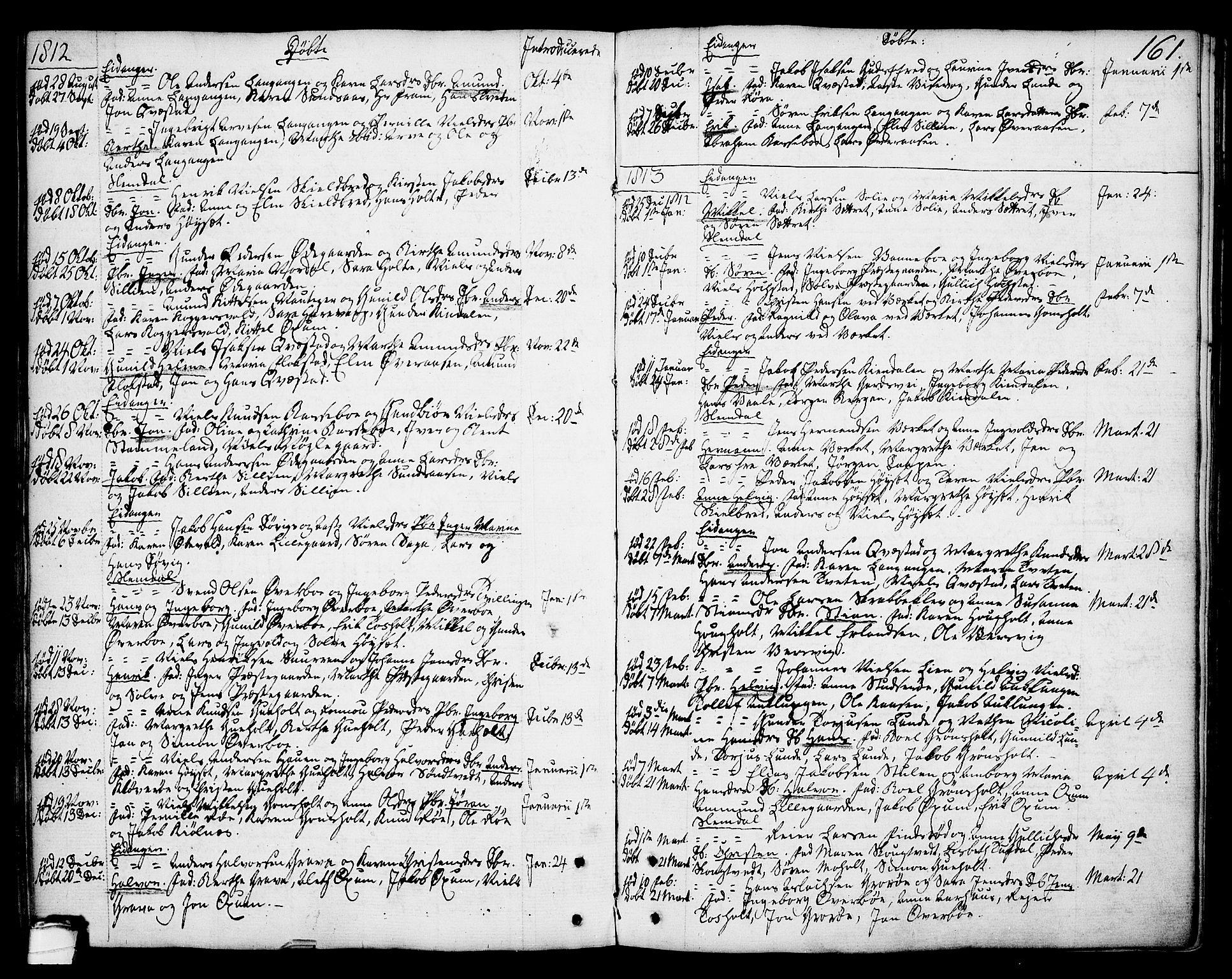 SAKO, Eidanger kirkebøker, F/Fa/L0006: Ministerialbok nr. 6, 1764-1814, s. 161